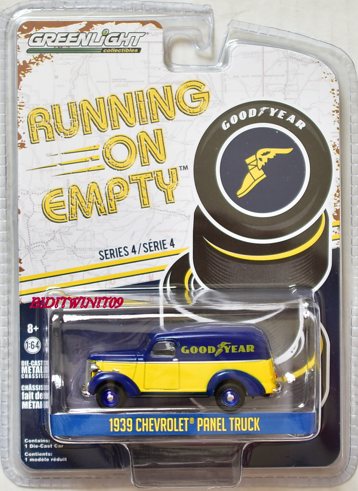 GREENLIGHT RUNNING ON EMPTY SERIES 4 1939 CHEVROLET PANEL TRUCK E+