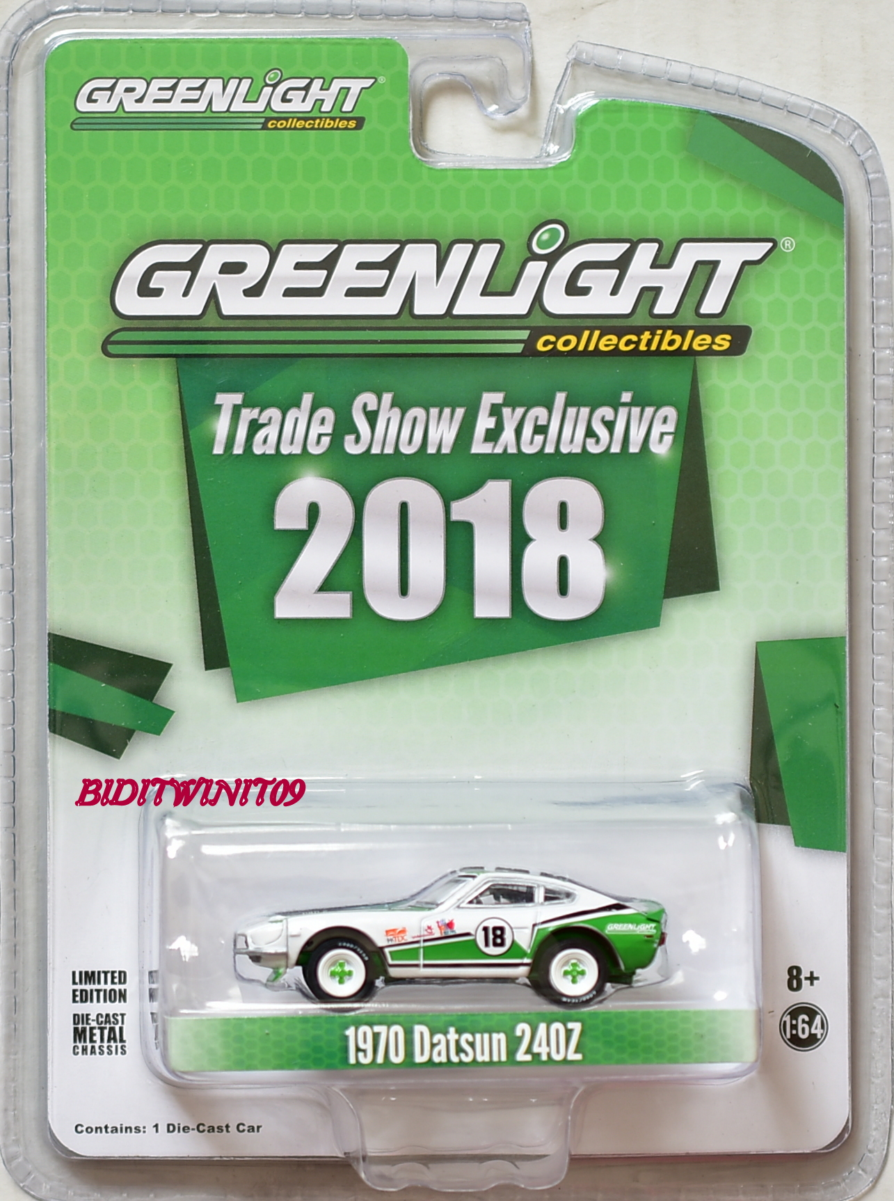 GREENLIGHT TRADE SHOW EXCLUSIVE SCALE 1:64 1970 DATSUN 240Z