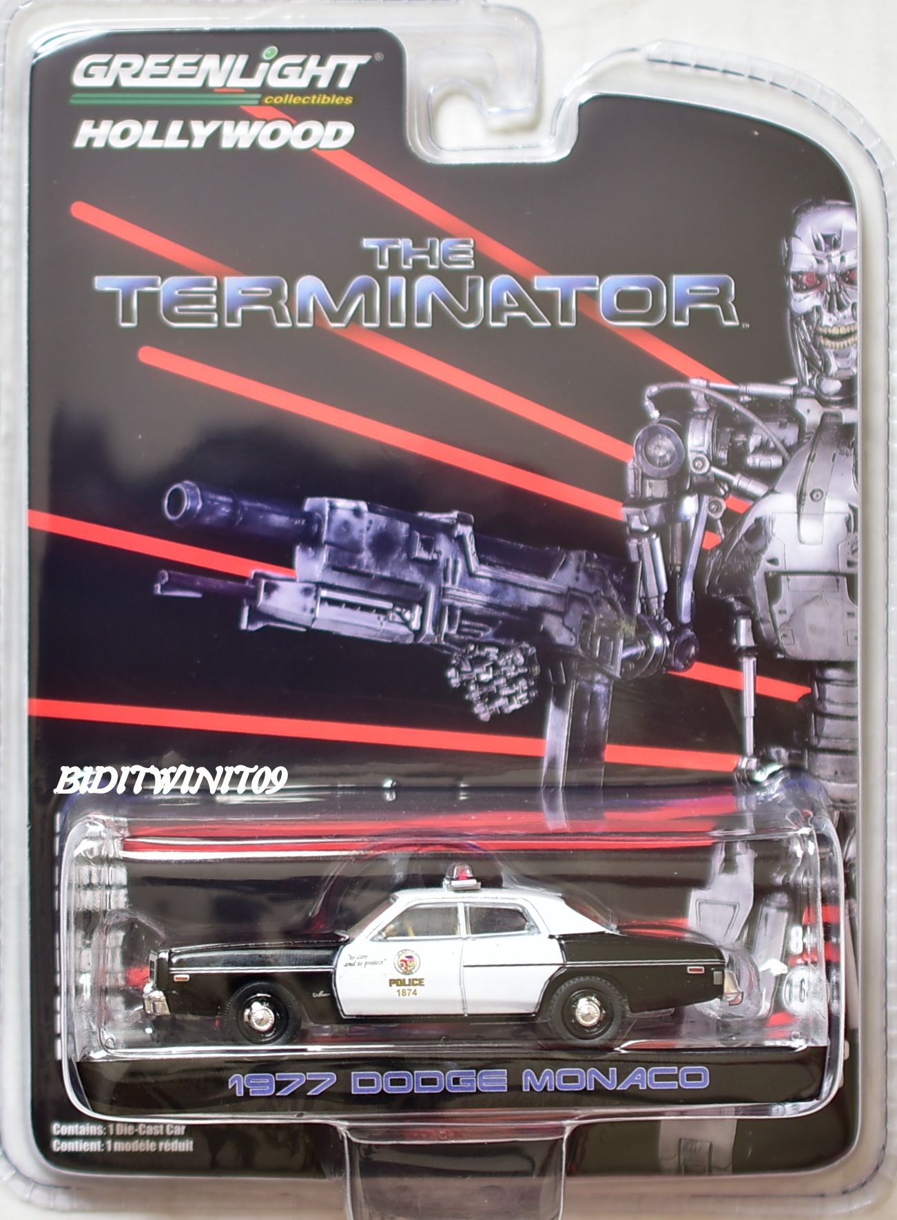 GREENLIGHT HOLLYWOOD SERIES 19 1:64 THE TERMINATOR 1977 DODGE MONACO POLICE