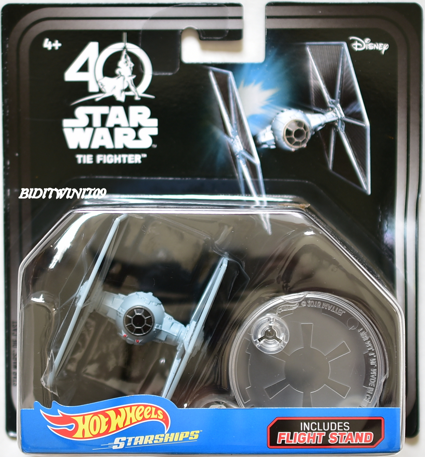 HOT WHEELS 2018 STAR WARS STARSHIPS 40TH ANNIVERSARY TIE FIGHTER