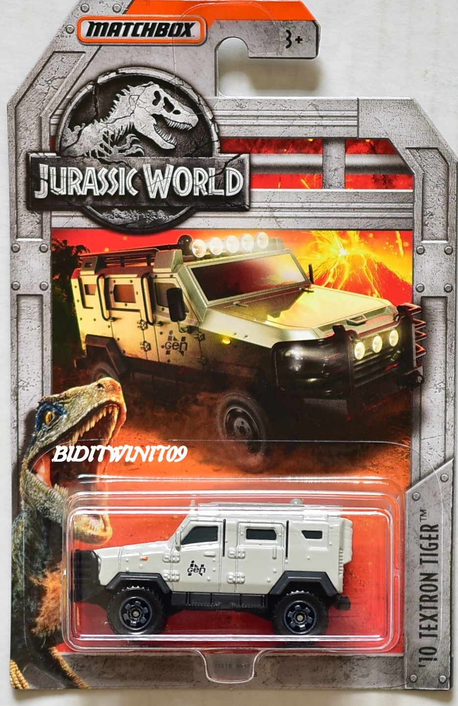 MATCHBOX 2018 JURASSIC WORLD '10 TEXTRON TIGER