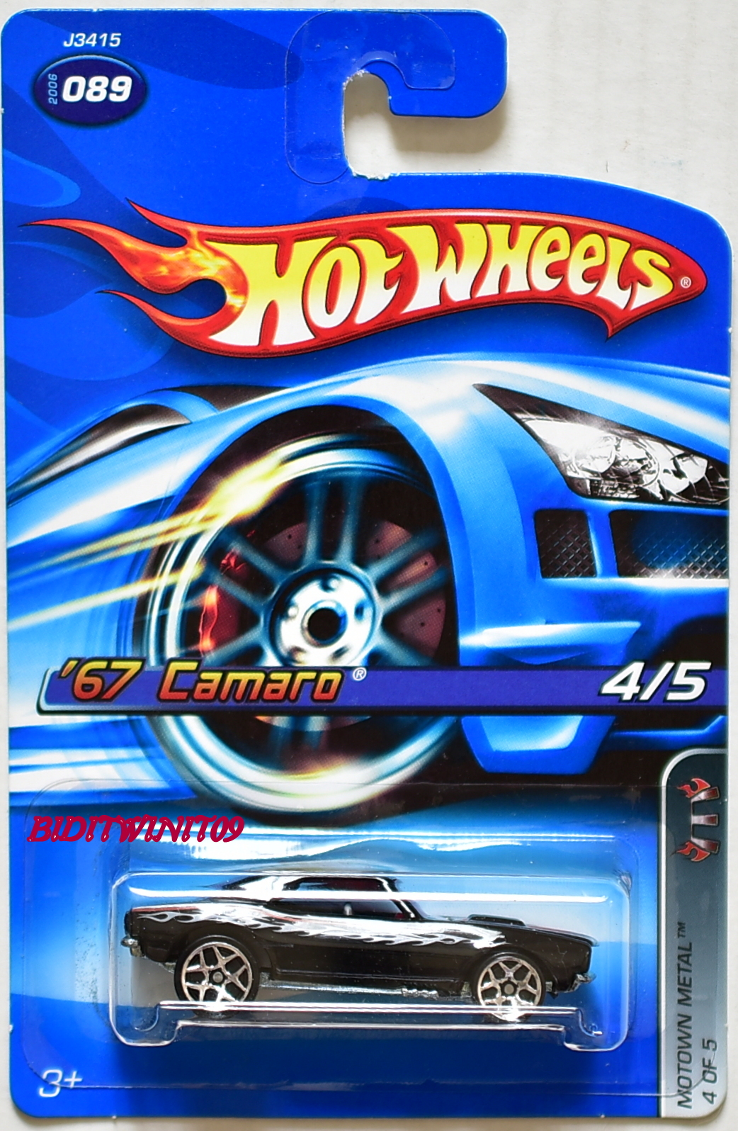 HOT WHEELS 2006 '67 CAMARO MOTOWN METAL #4/5