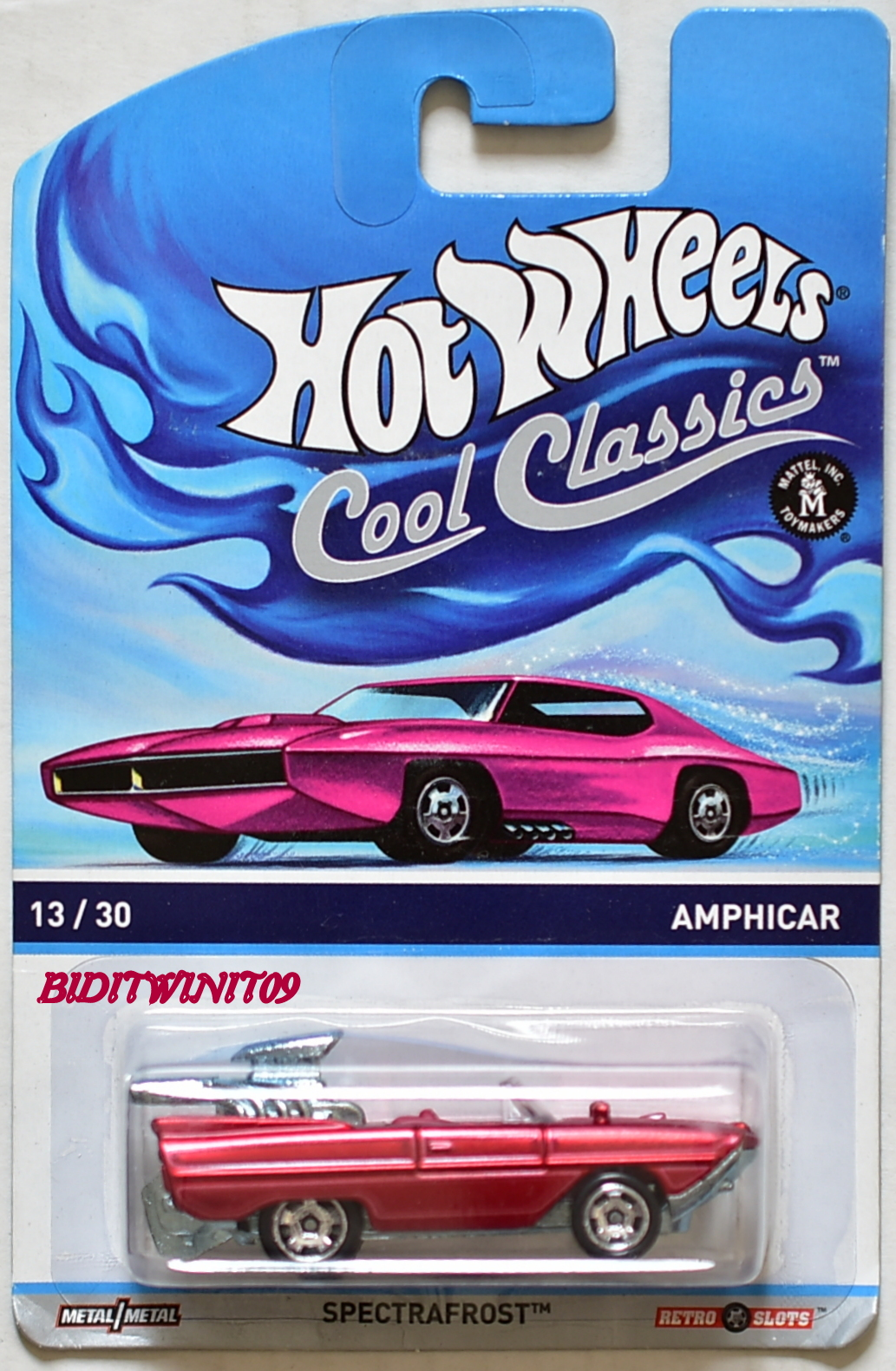 HOT WHEELS COOL CLASSICS SPECTRAFROST AMPHICAR #13/30 RED E+