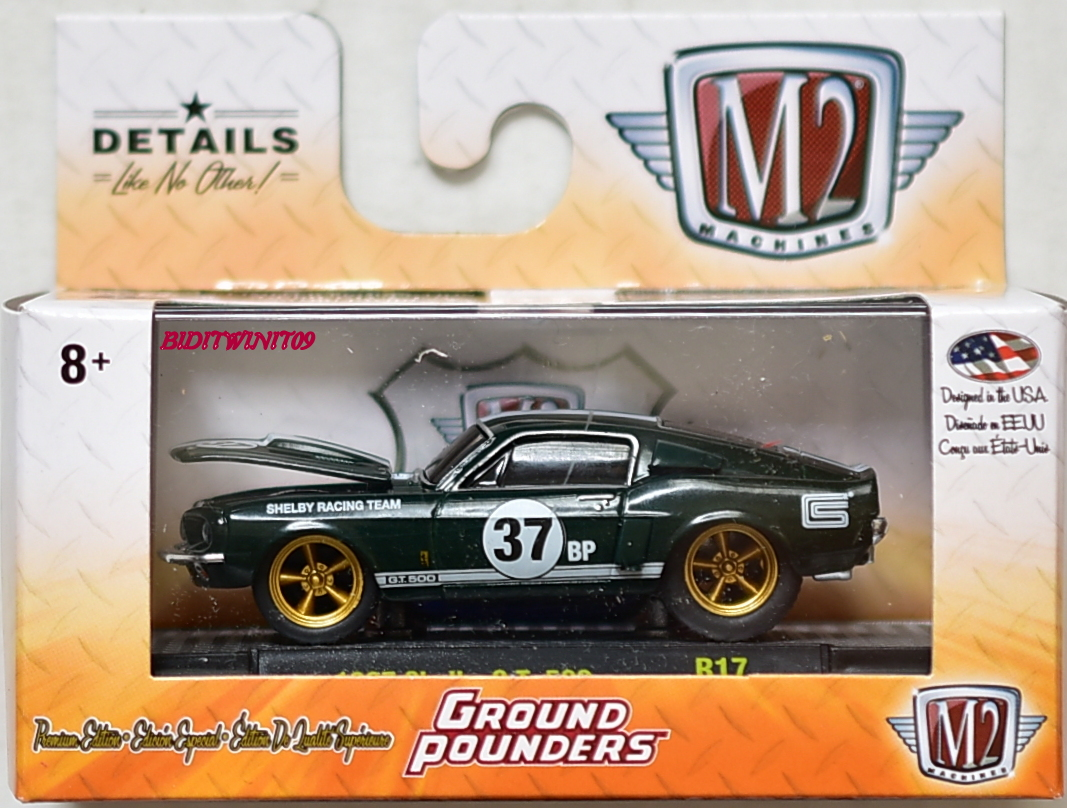M2 MACHINES 2018 GROUND POUNDERS 1967 SHELBY G.T.500 R17