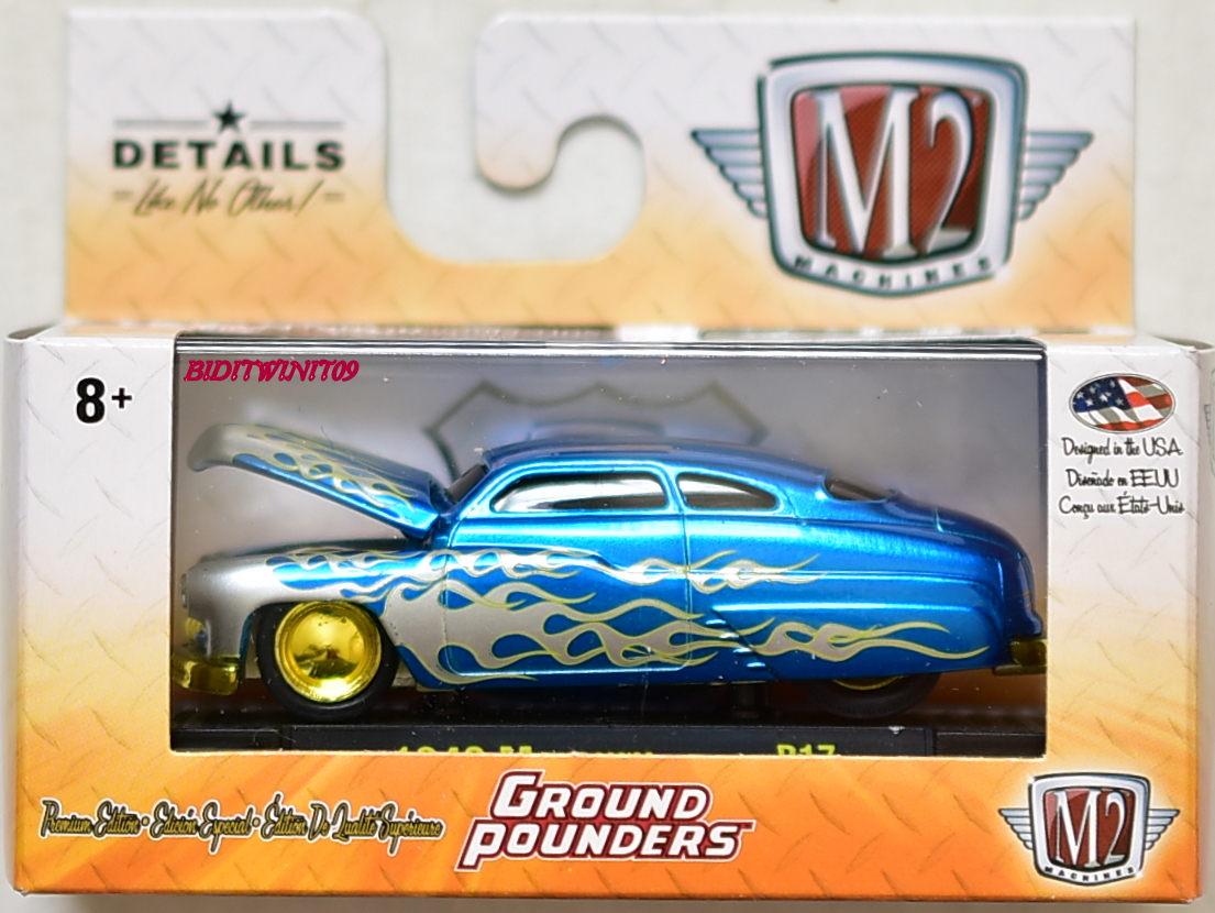 M2 MACHINES 2018 GROUND POUNDERS 1949 MERCURY R17 CHASE E+