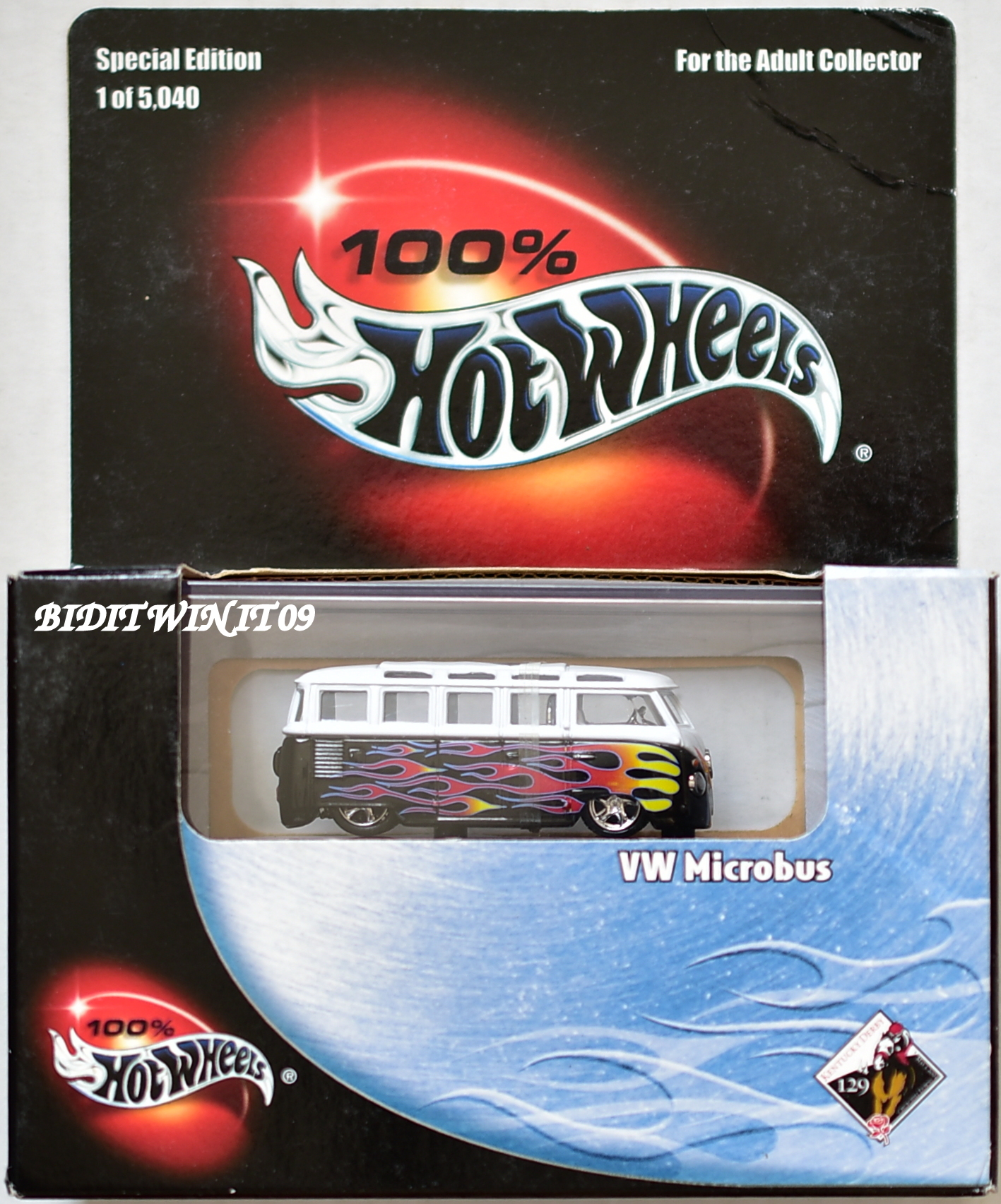 HOT WHEELS 100% BLACK BOX LIMITED EDITION VW MICROBUS E+