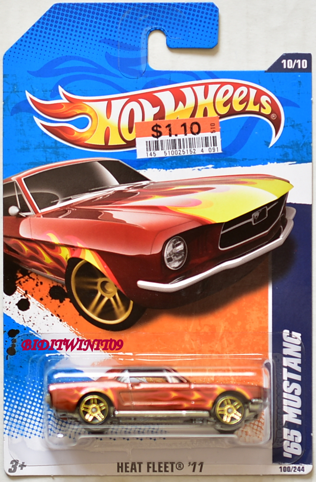 HOT WHEELS 2011 HEAT FLEET '65 MUSTANG #10/10