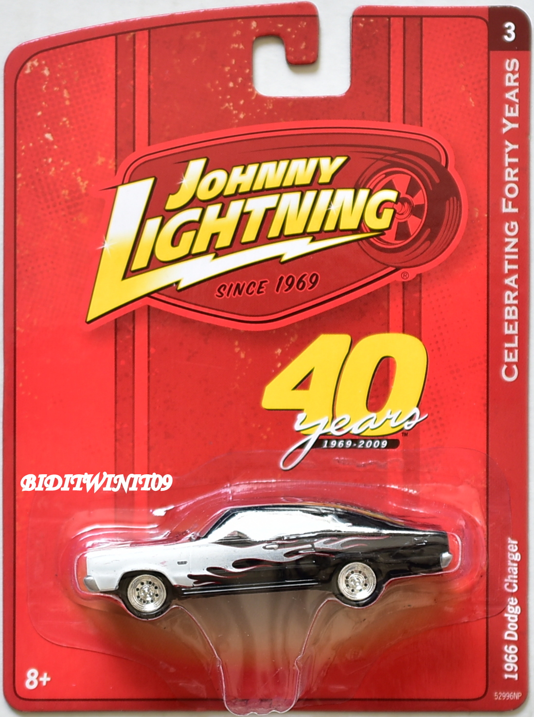 JOHNNY LIGHTNING 2009 CELEBRATING FORTY YEARS 1966 DODGE CHARGER E+