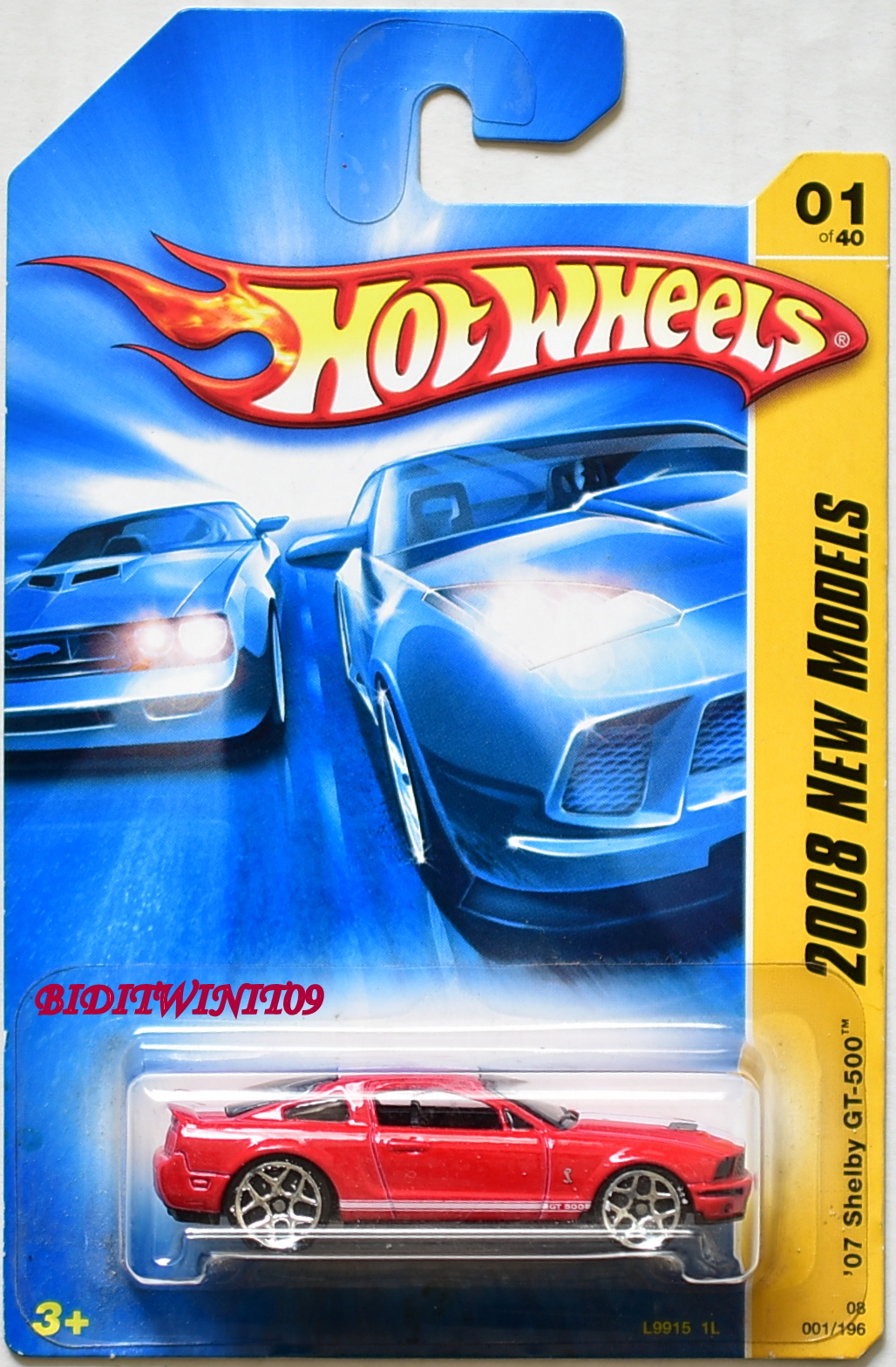 HOT WHEELS 2008 NEW MODELS '07 SHELBY GT-500 #01/40 RED