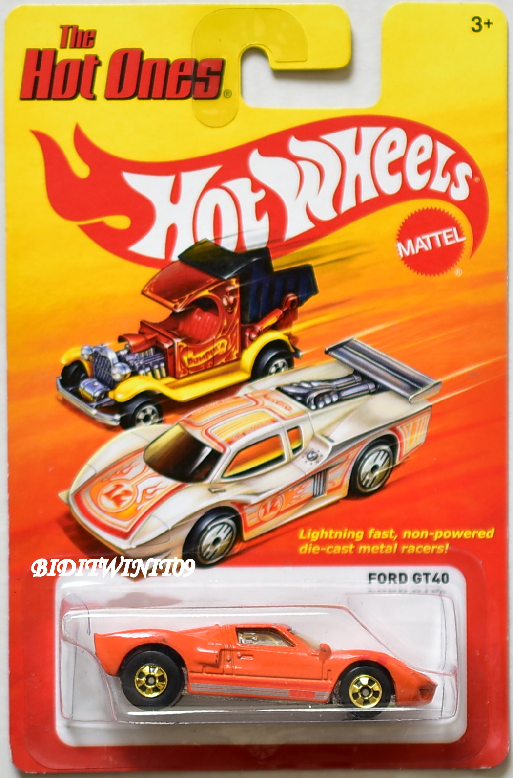 HOT WHEELS THE HOT ONE FORD GT40 ORANGE