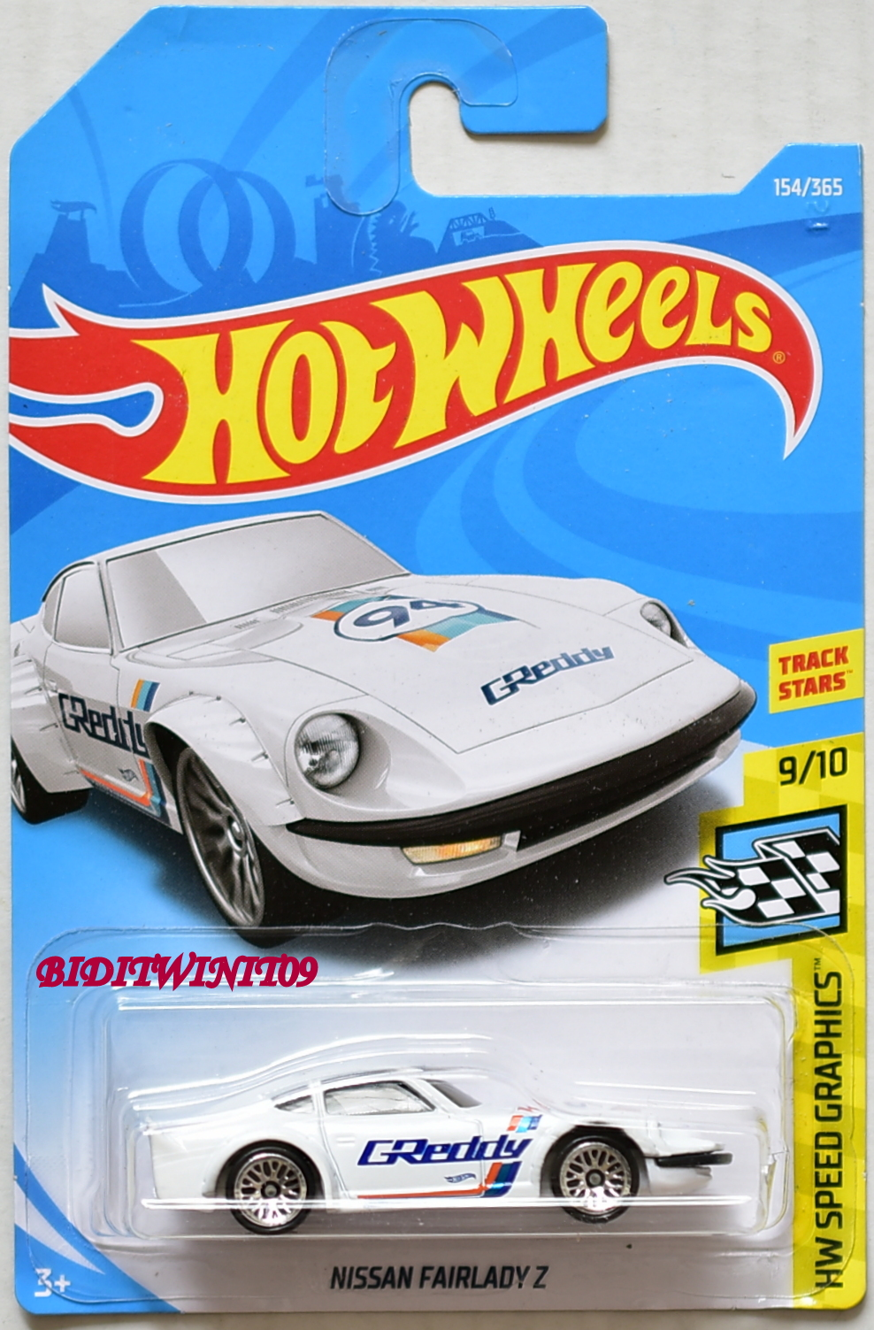 HOT WHEELS 2018 HW SPEED GRAPHICS NISSAN FAIRLADY Z #9/10 WHITE