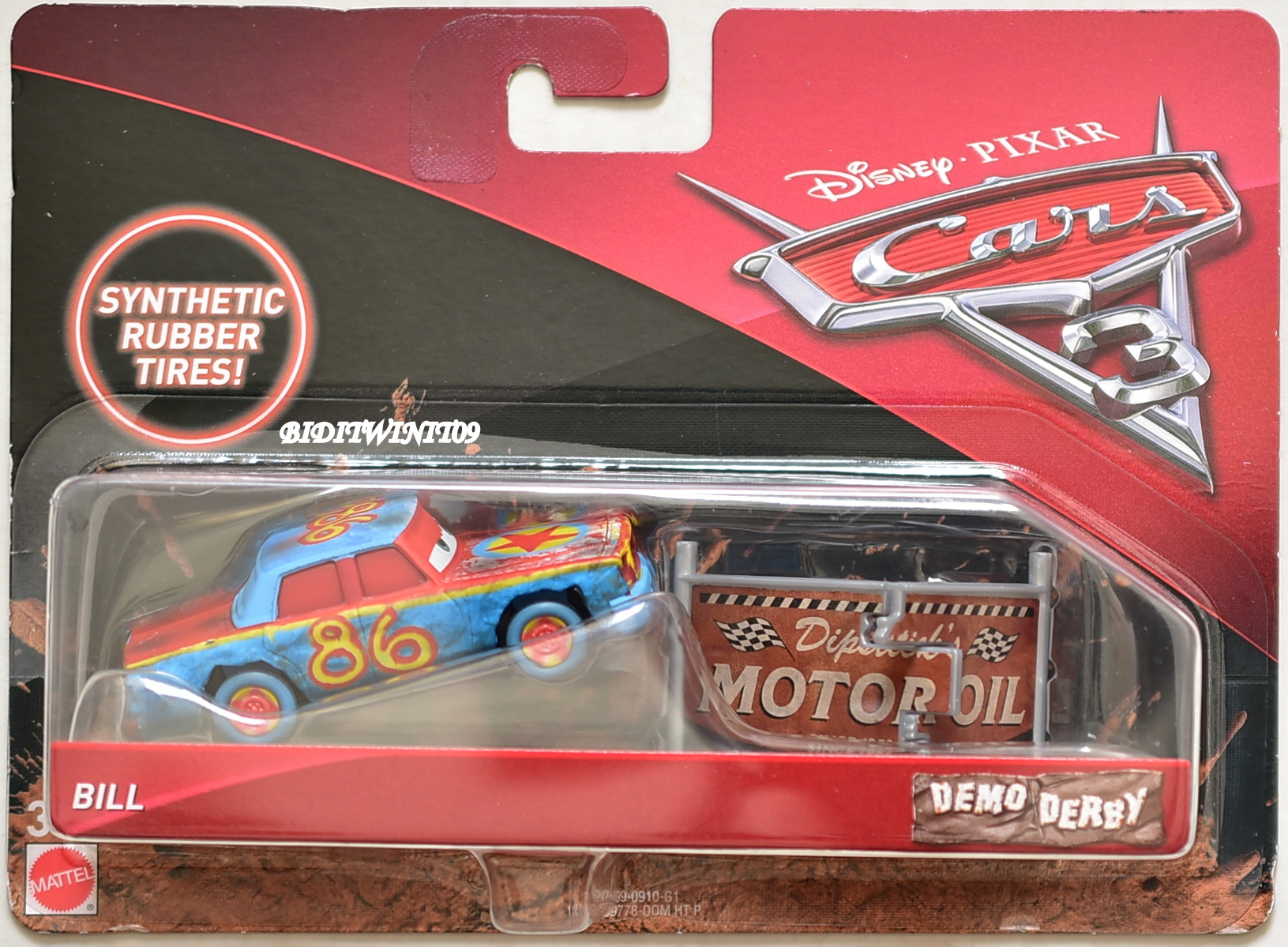 DISNEY PIXAR CARS 3 SYNTHETIC RUBBER TIRES BILL DEMO DERBY