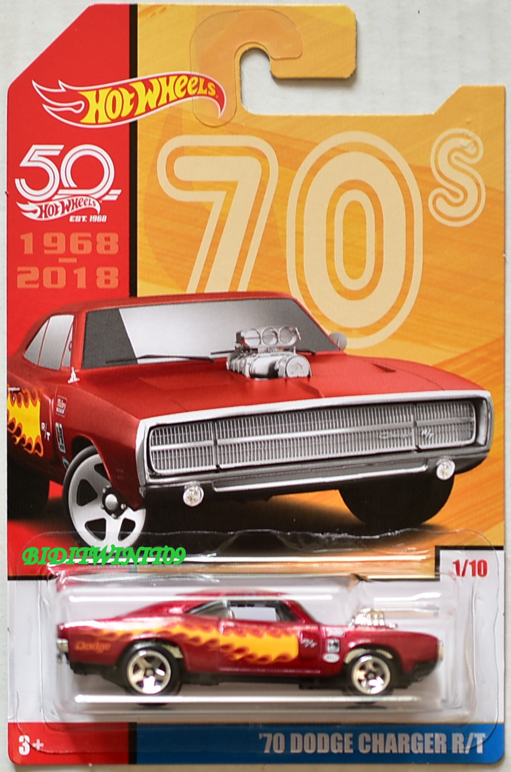 HOT WHEELS 50 YEARS 70S '70 DODGE CHARGER R/T #1/10
