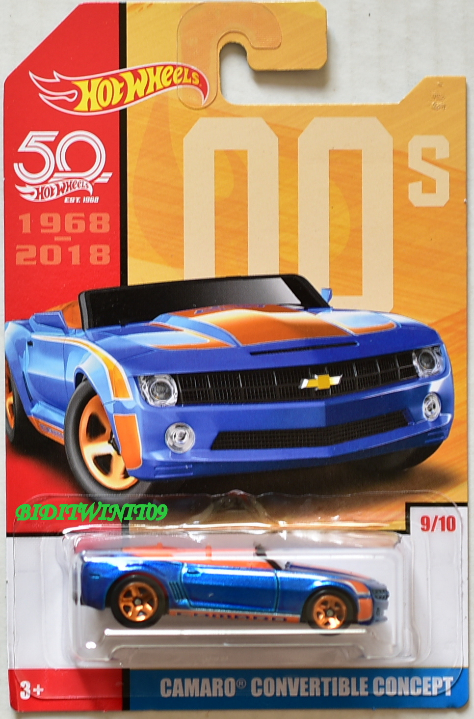 HOT WHEELS 50 YEARS 00S CAMARO CONVERTIBLE CONCEPT #9/10