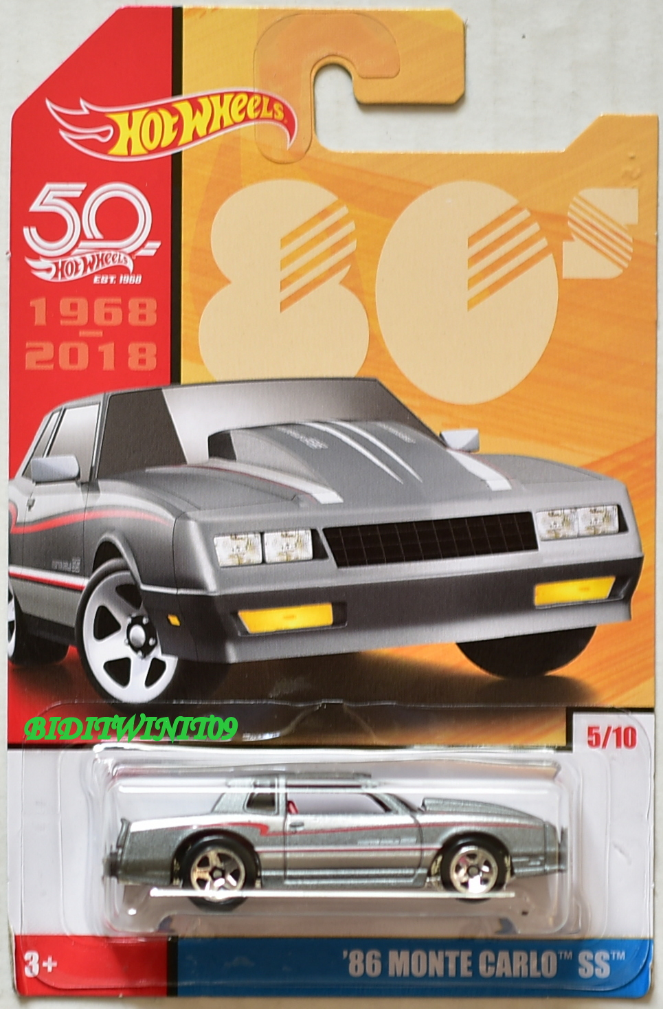 HOT WHEELS 50 YEARS 80S '86 MONTE CARLO SS #5/10