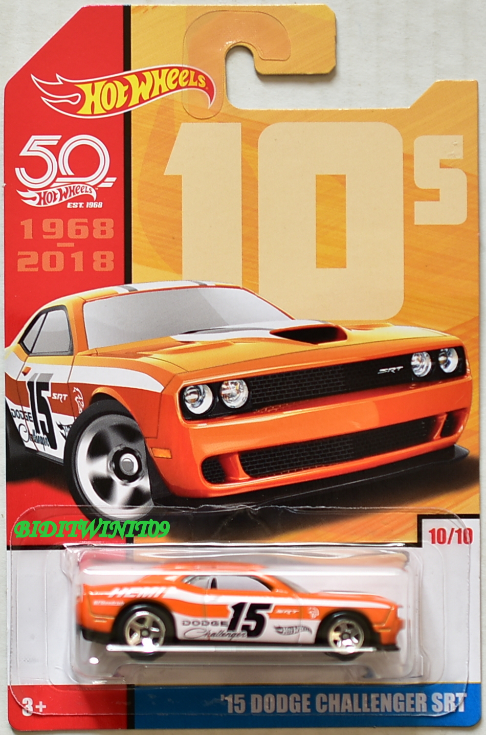 HOT WHEELS 50 YEARS '15 DODGE CHALLENGER SRT #10/10