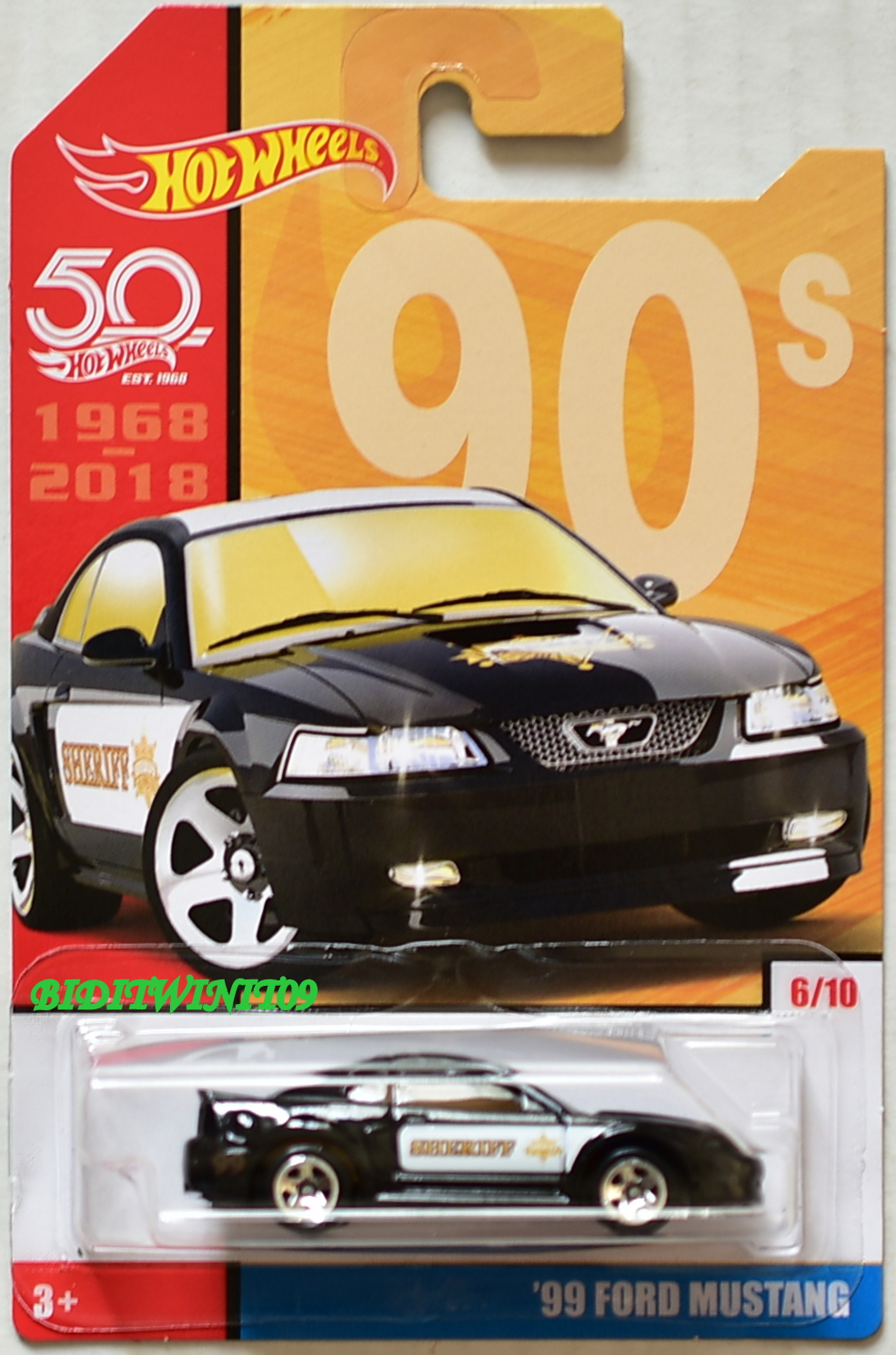 HOT WHEELS 50 YEARS '99 FORD MUSTANG #6/10