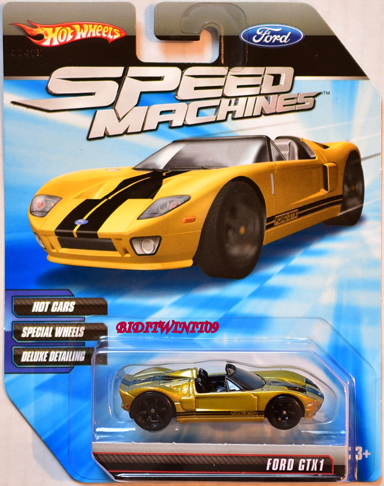 HOT WHEELS SPEED MACHINES FORD GTX1 GOLD E+
