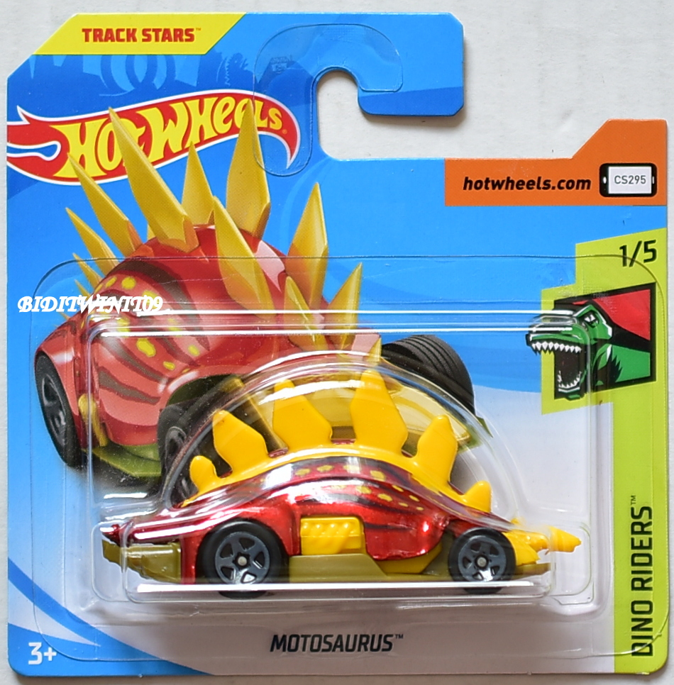 HOT WHEELS 2018 DINO RIDERS MOTOSAURUS #1/5 SHORT CARD
