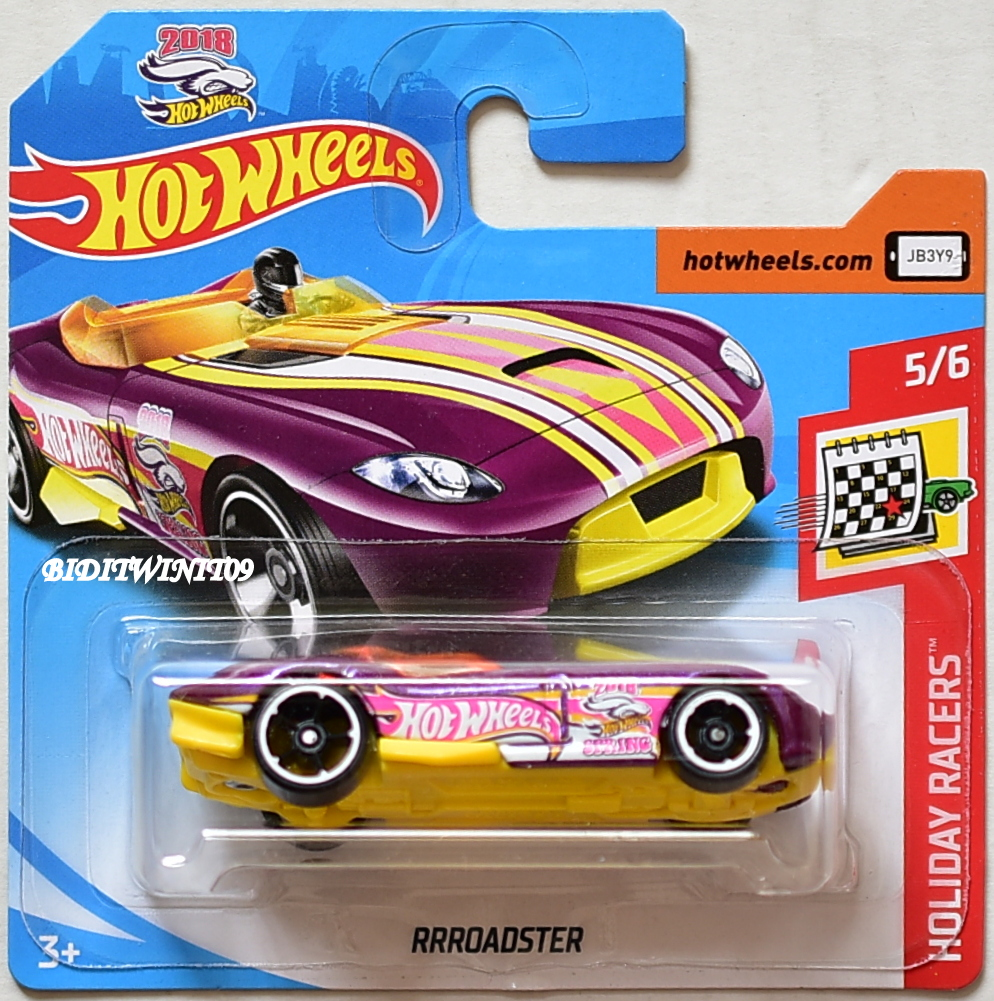HOT WHEELS 2018 HOLIDAY RACERS RRROADSTER SHORT CARD