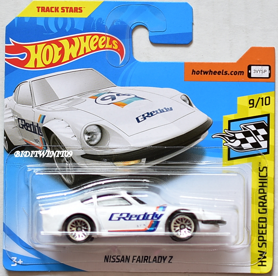 HOT WHEELS 2018 HW SPEED GRAPHICS NISSAN FAIRLADY Z #9/10 WHITE SHORT CARD