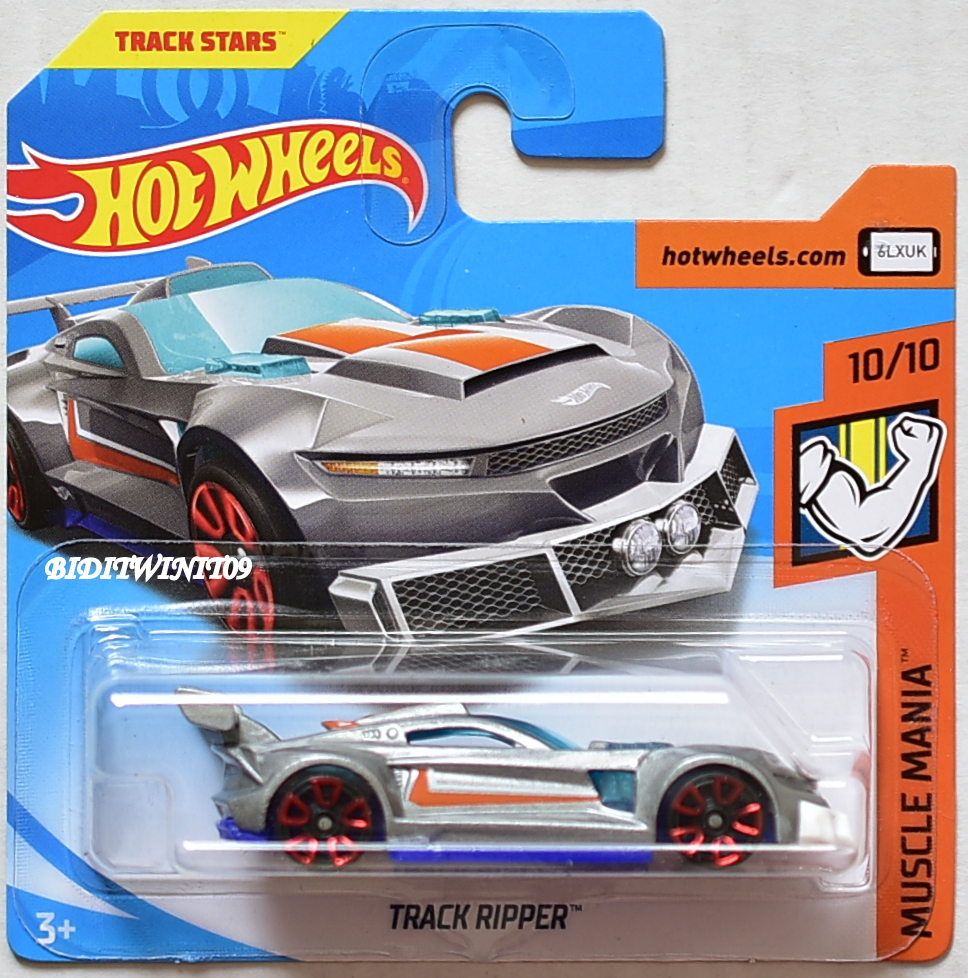 HOT WHEELS 2018 MUSCLE MANIA TRACK RIPPER SHORT CARD