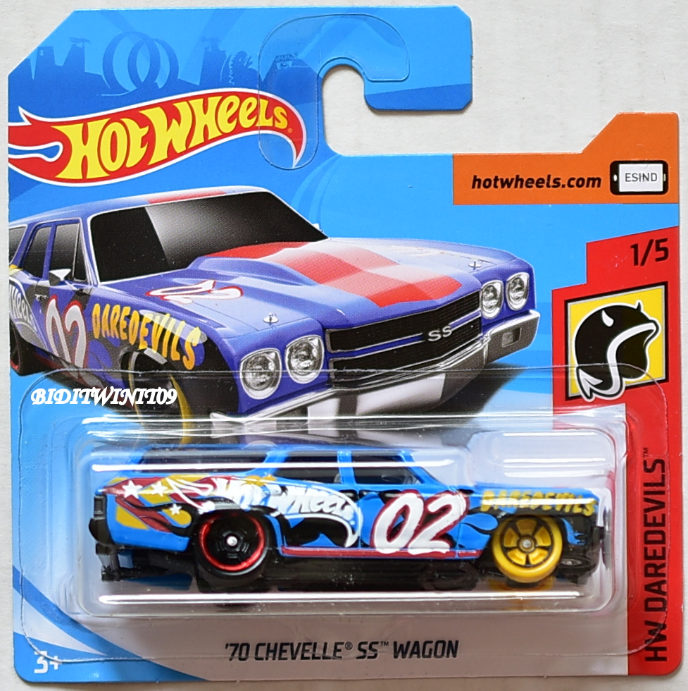 HOT WHEELS 2018 HW DAREDEVILS '70 CHEVELLE SS WAGON SHORT CARD