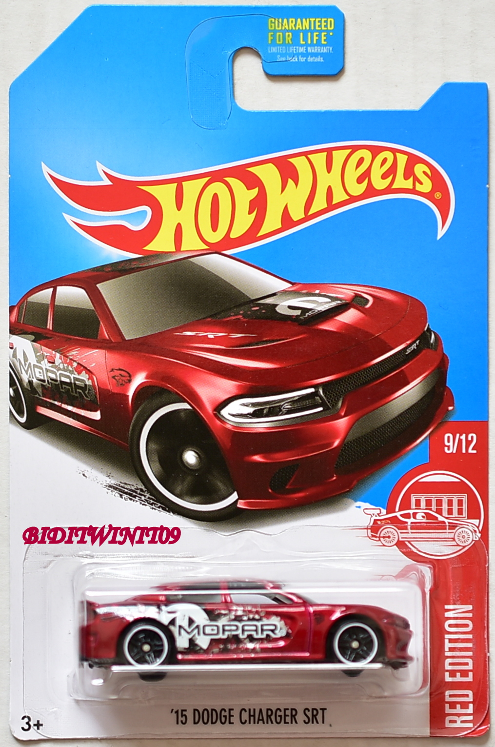 HOT WHEELS 2017 RED EDITION '15 DODGE CHARGER SRT TARGET EXCLUSIVE