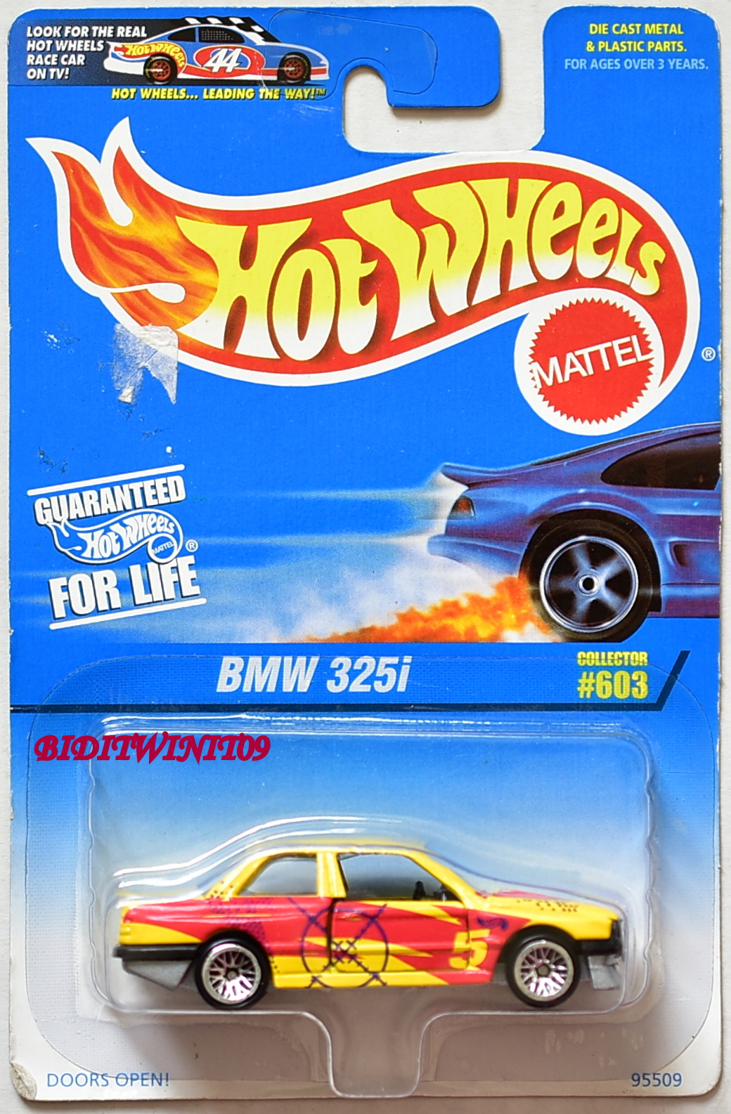 HOT WHEELS 1997 BMW 325I COLLECTOR #603 YELLOW