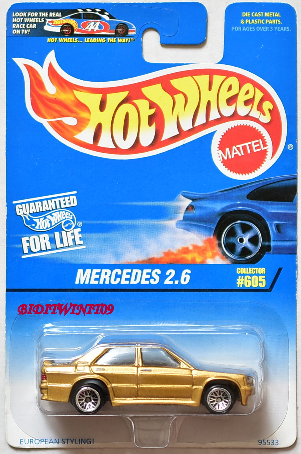 HOT WHEELS 1997 MERCEDES 2.6 COLLECTOR #605