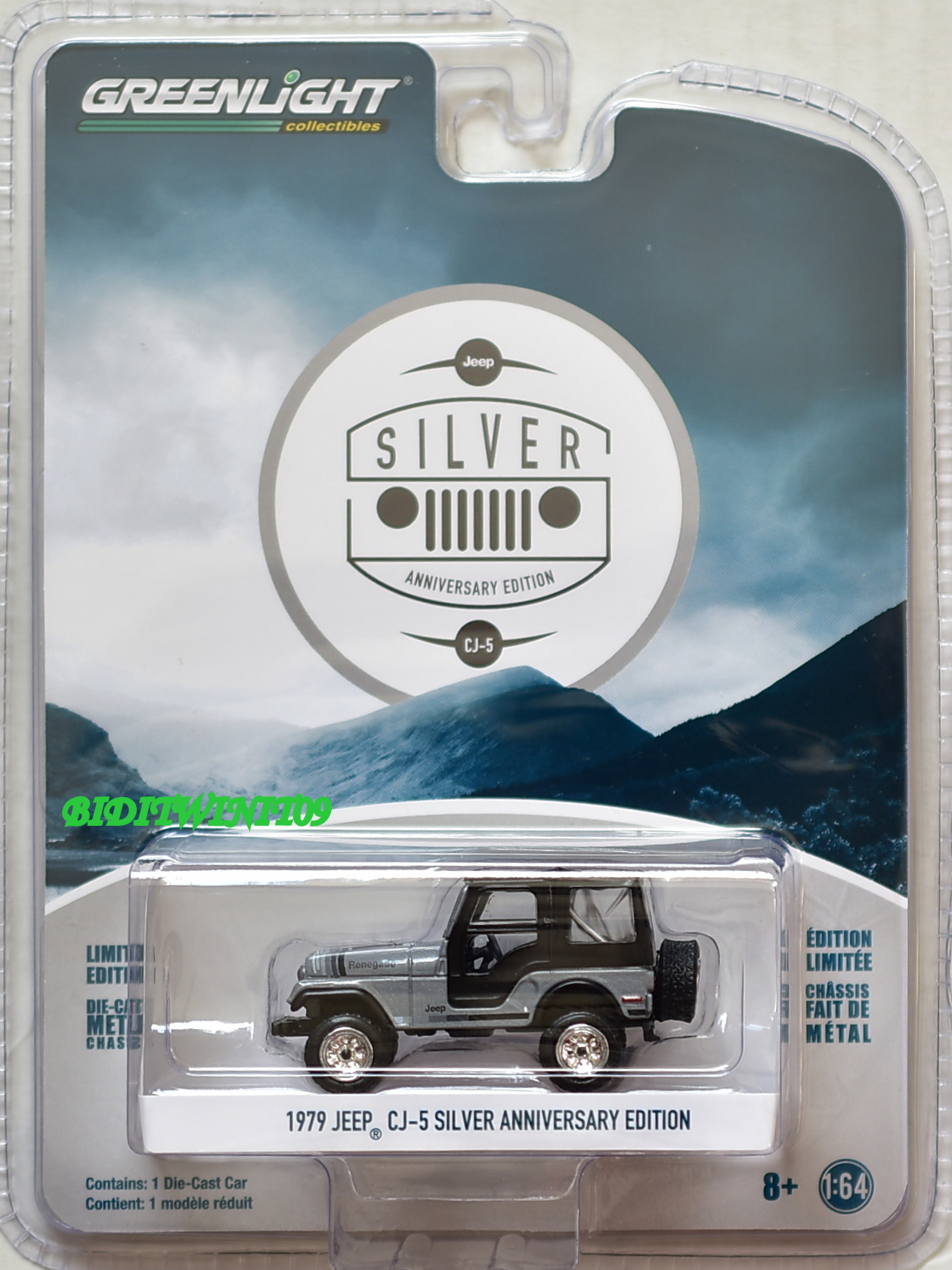 GREENLIGHT ANNIVERSARY SERIES 6 1979 JEEP CJ-5 SILVER ANNIVERSARY EDITION