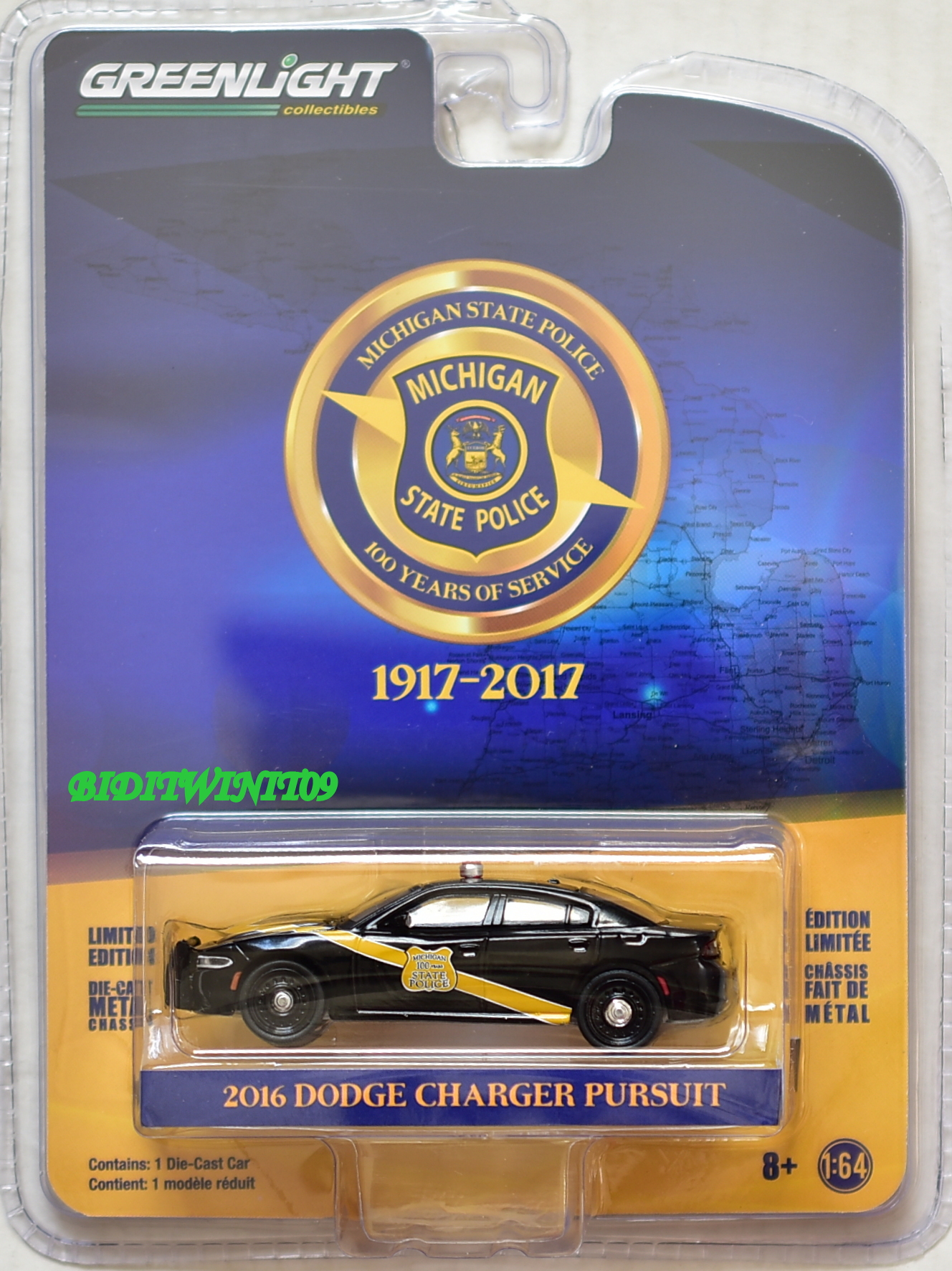 GREENLIGHT ANNIVERSARY SERIES 6 2016 DODGE CHARGER PURSUIT - Click Image to Close