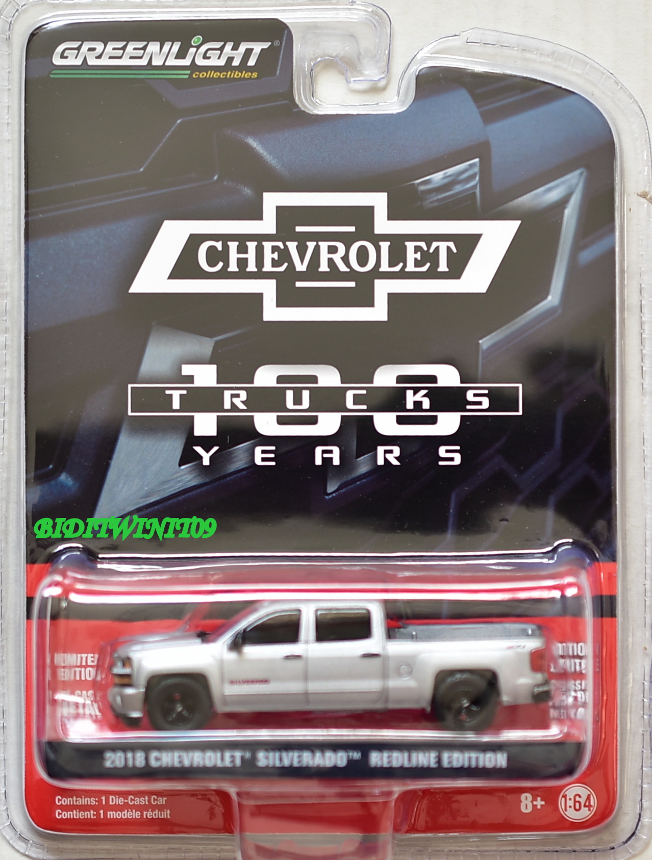 GREENLIGHT ANNIVERSARY SERIES 6 2018 CHEVROLET SILVERADO REDLINE EDITION