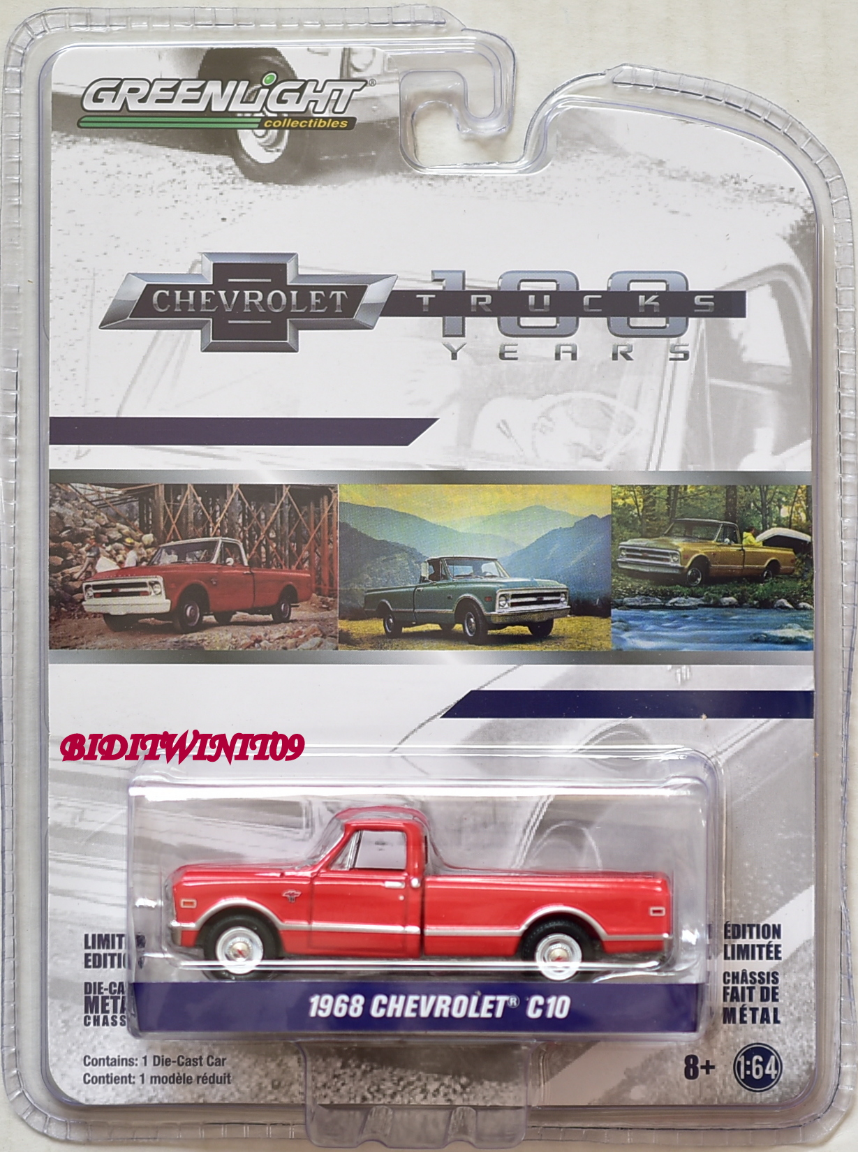 GREENLIGHT ANNIVERSARY SERIES 6 1968 CHEVROLET C10