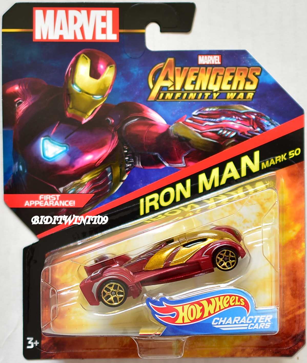 HOT WHEELS MARVEL AVANGERS INFINITY WAR IRON MAN MARK 50 CHARACTER CARS
