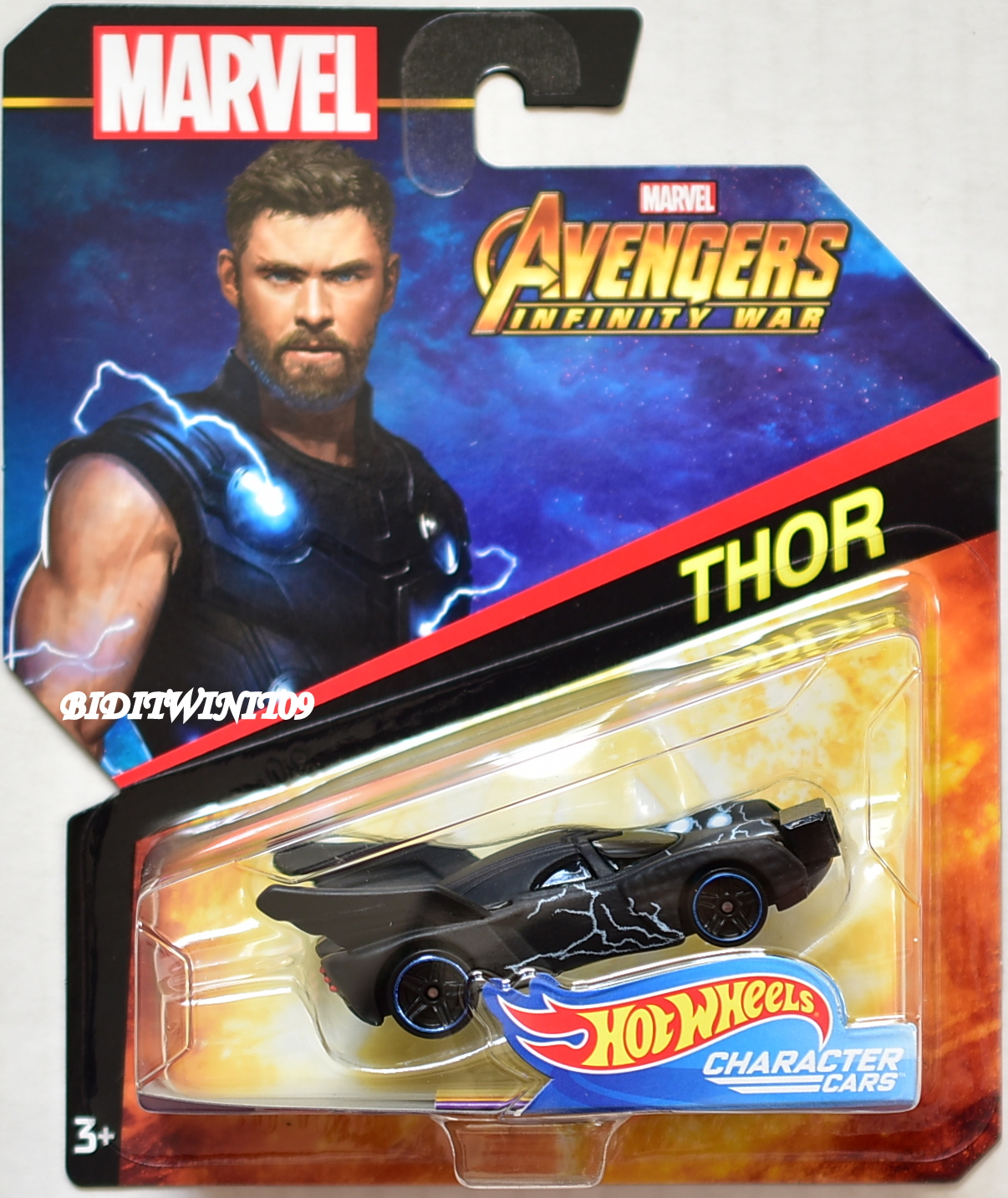 HOT WHEELS MARVEL AVANGERS INFINITY WAR THOR CHARACTER CARS