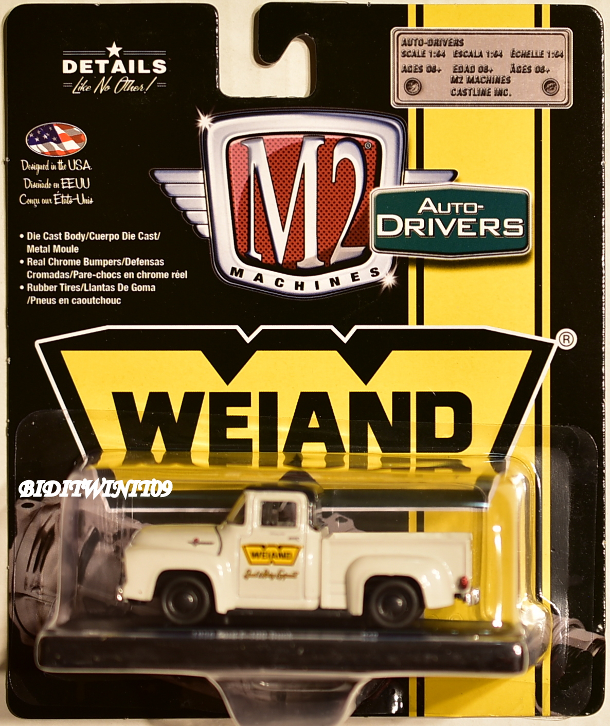 M2 MACHINES AUTO-DRIVERS 1956 FORD F-100 TRUCK WEIAND R49