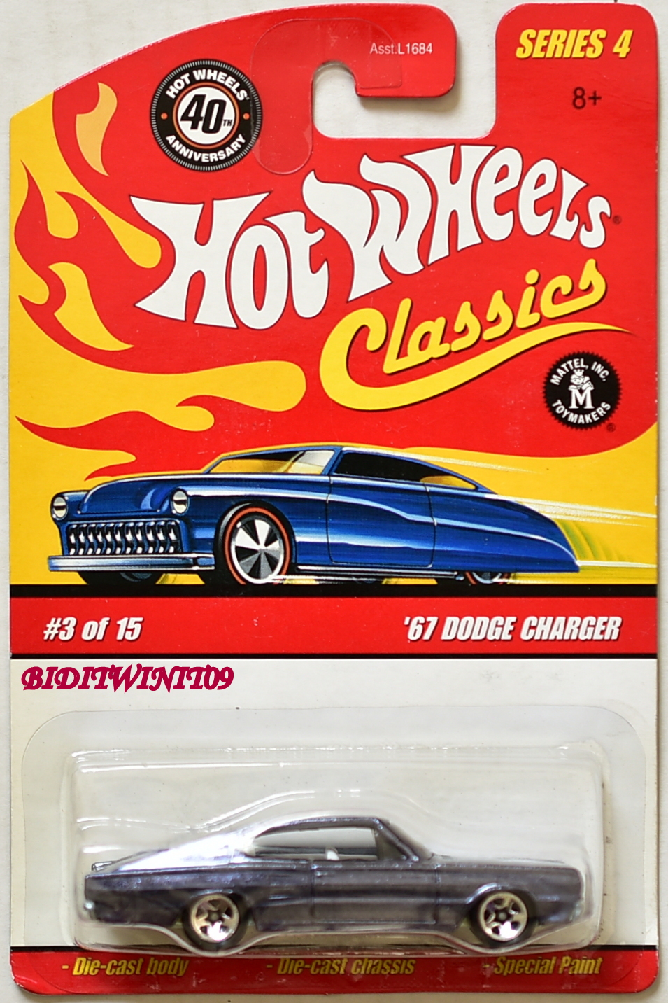 HOT WHEELS CLASSICS SERIES 4 '67 DODGE CHARGER #3/15