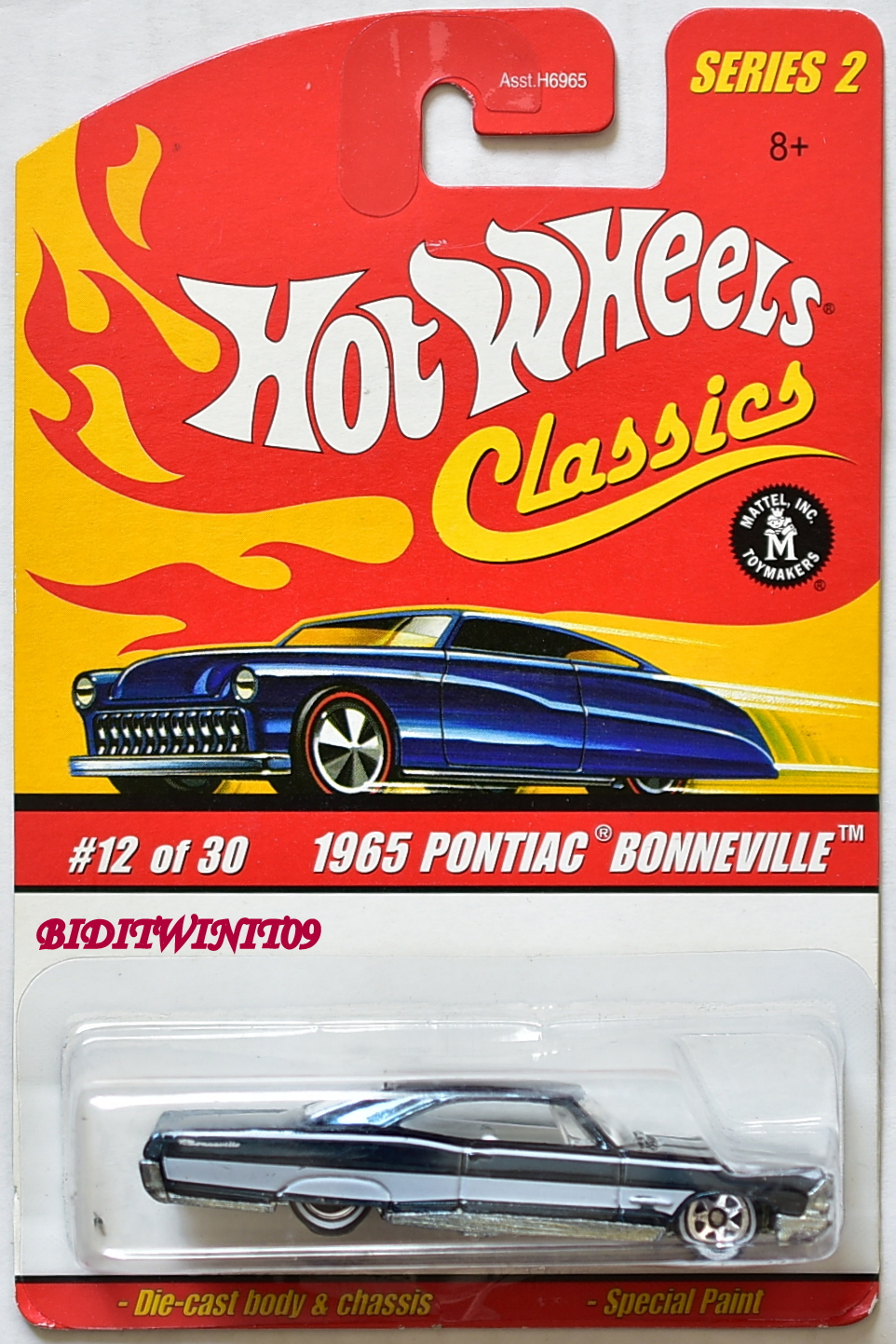 HOT WHEELS CLASSICS SERIES 2 1965 PONTIAC BONNEVILLE #12/30 E+