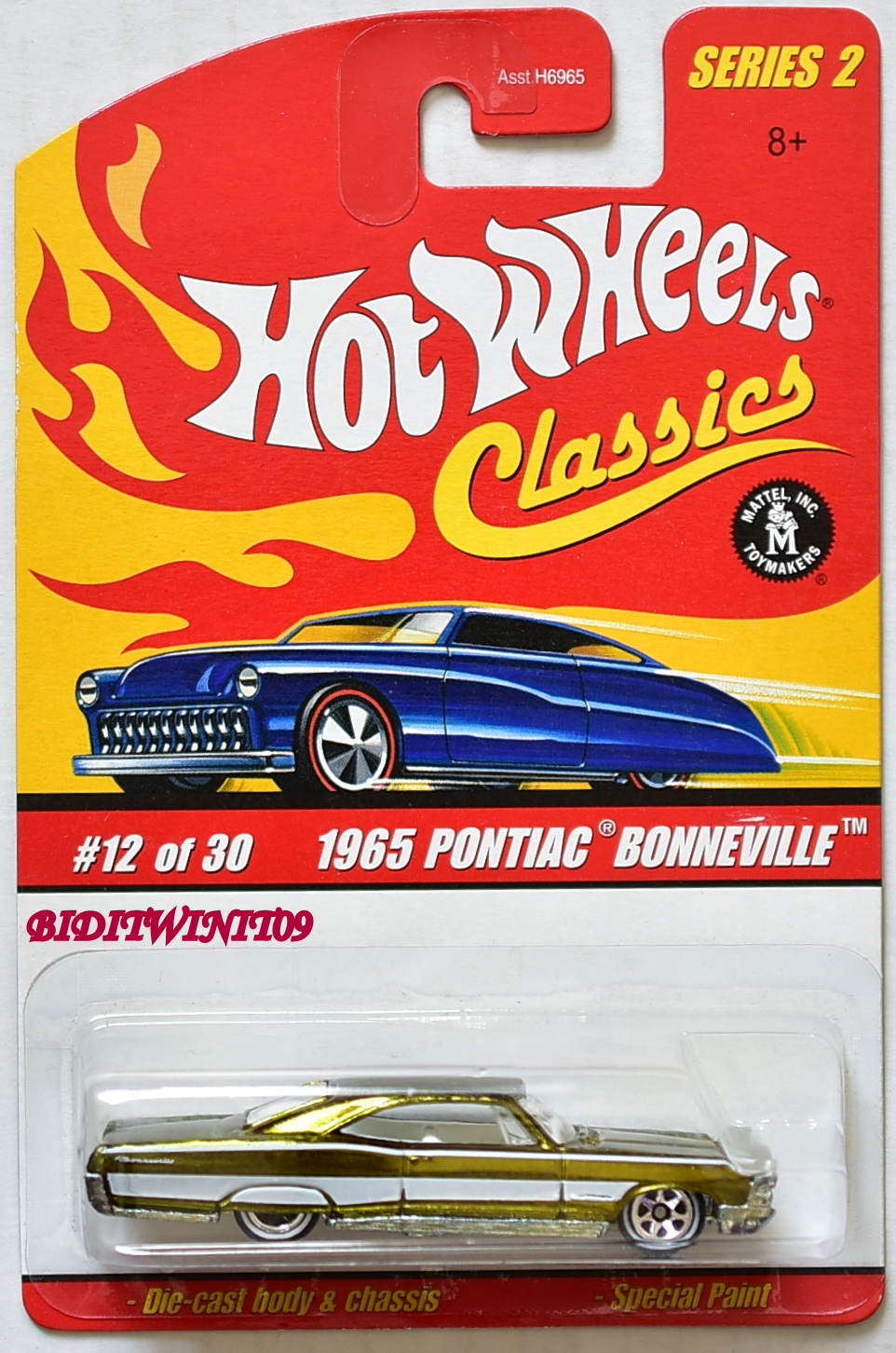 HOT WHEELS CLASSICS SERIES 2 1965 PONTIAC BONNEVILLE #12/30 GOLD E+