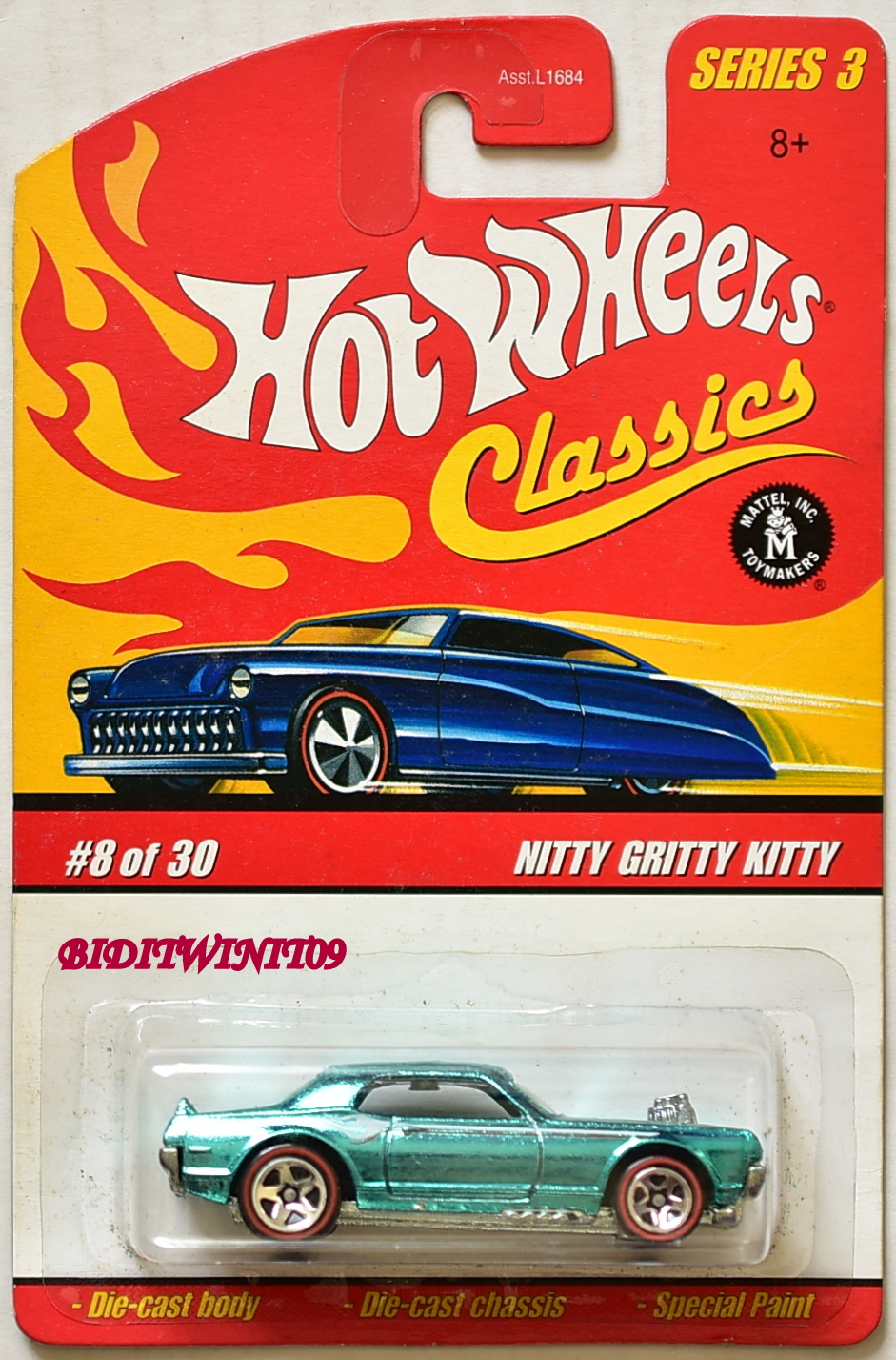 HOT WHEELS CLASSICS SERIES 3 NITTY GRITTY KITTY #8/30 GREEN