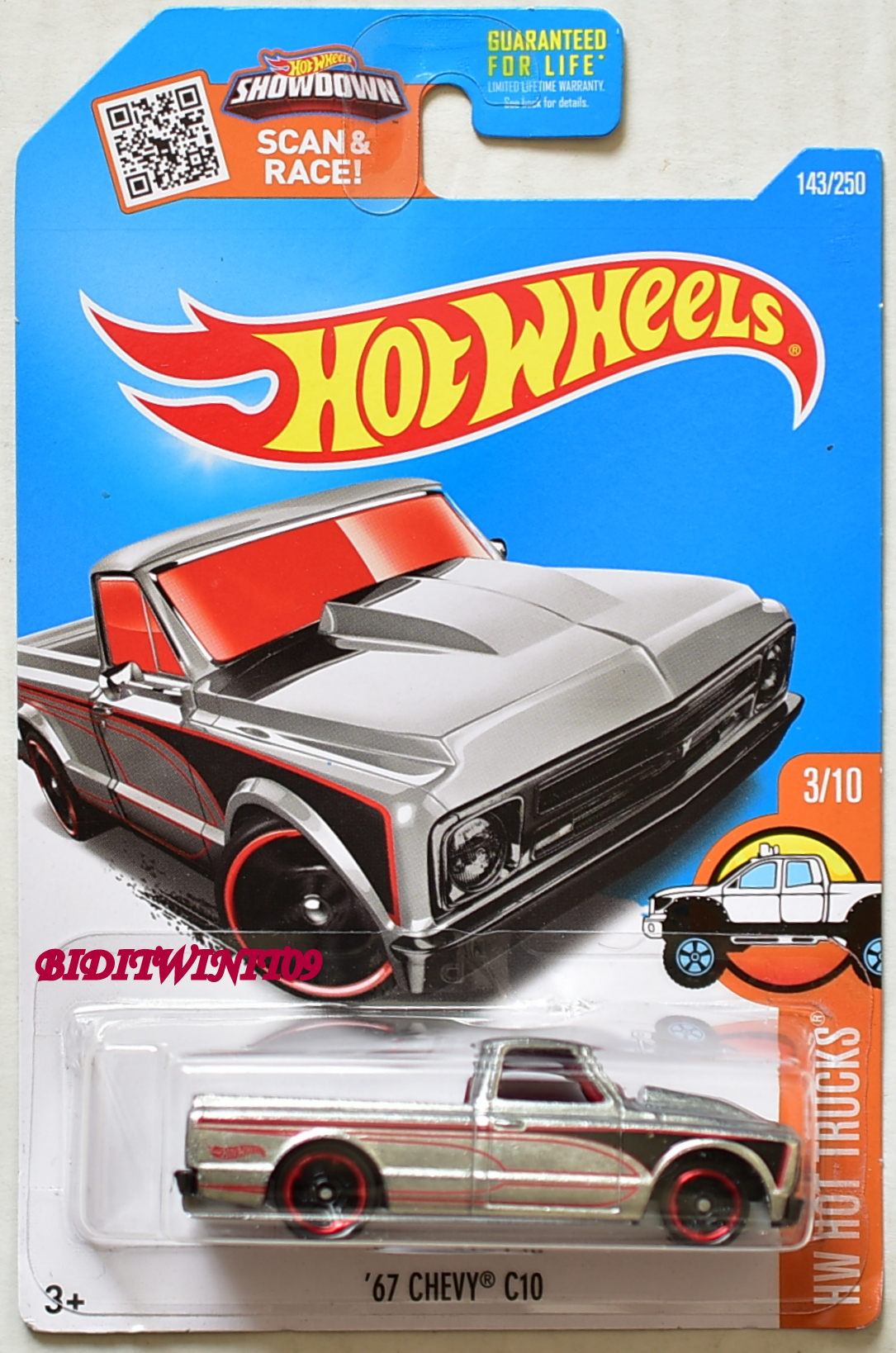 HOT WHEELS 2016 HW HOT TRUCKS '67 CHEVY C10 ZAMAC