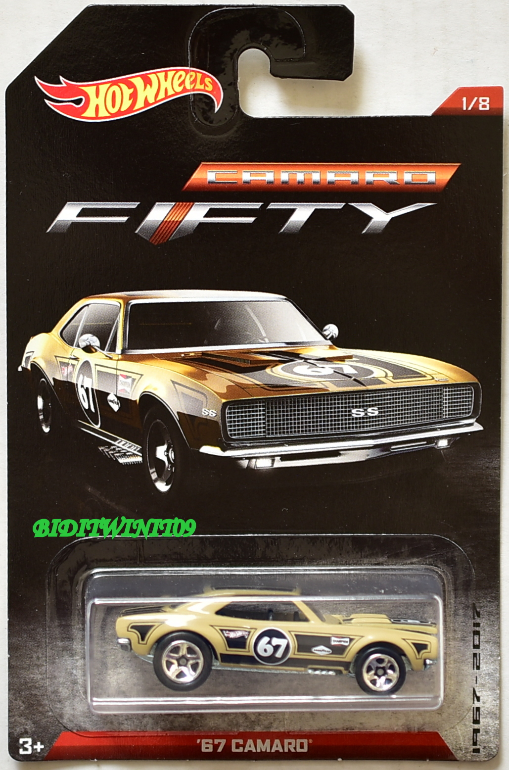 Hot Wheels DWC85 Camaro Fifty 8 Model Cars 1967-2017 8 Series Complete New