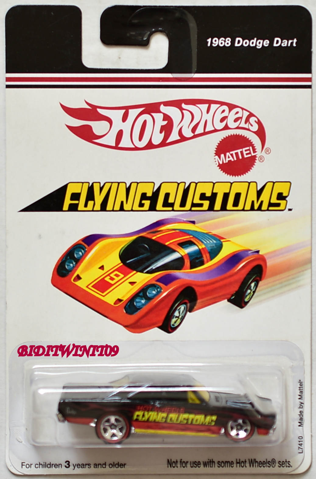 HOT WHEELS 2006 FLYING CUSTOMS 1968 DODGE DART L7410