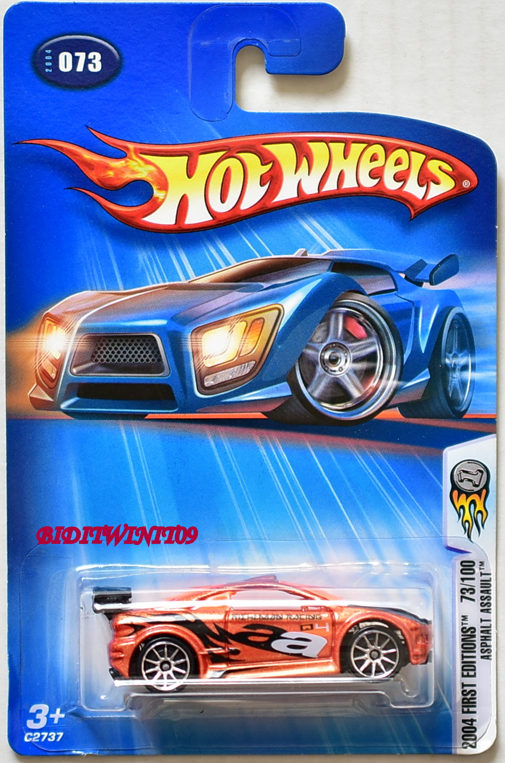 HOT WHEELS 2004 FIRST EDITIONS 73/100 ASPHALT ASSAULT #073 ORANGE