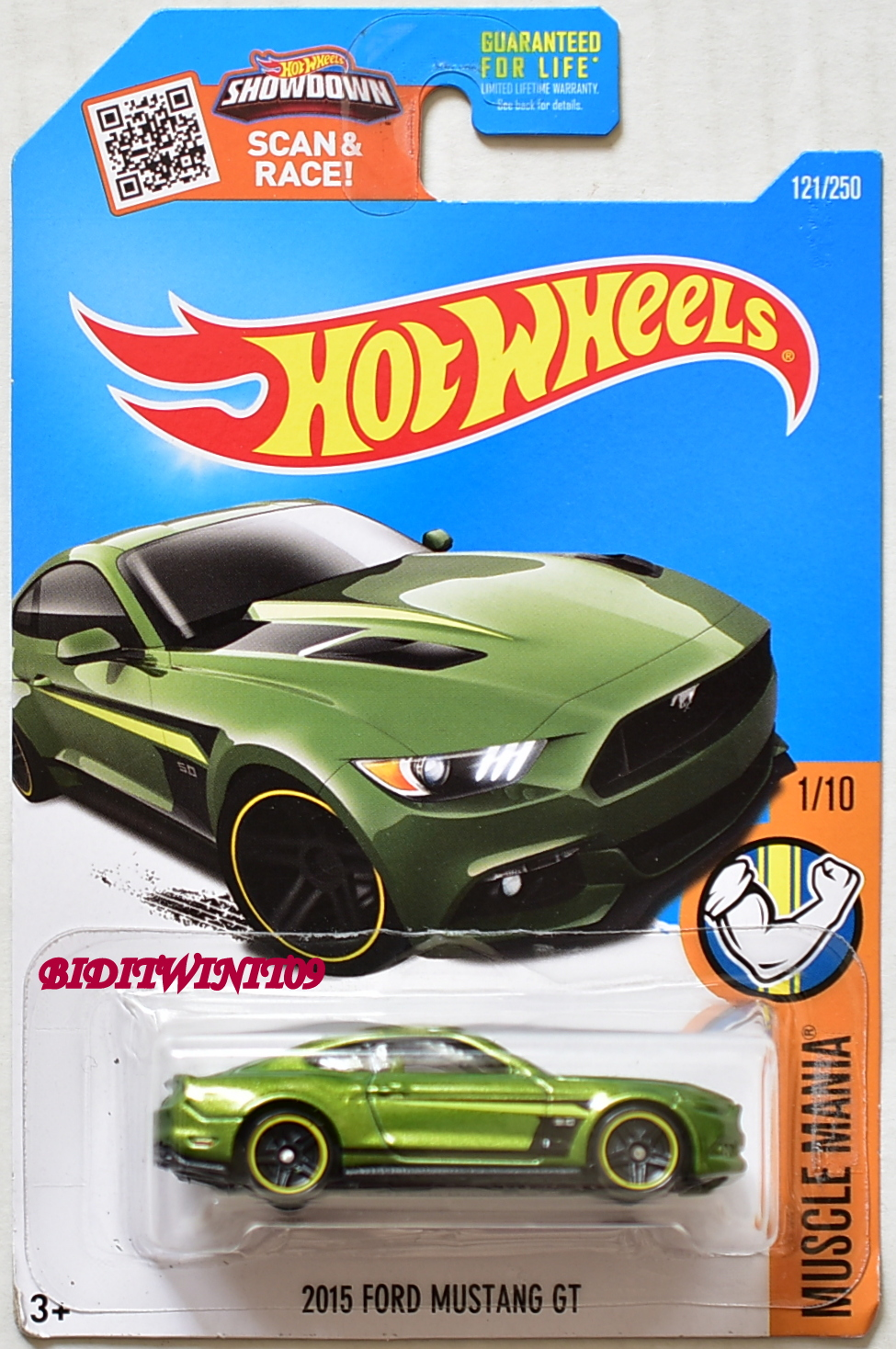 Hot Wheels Toys R Us Exclusive 2015 Ford Mustang Gt 1 10 Green