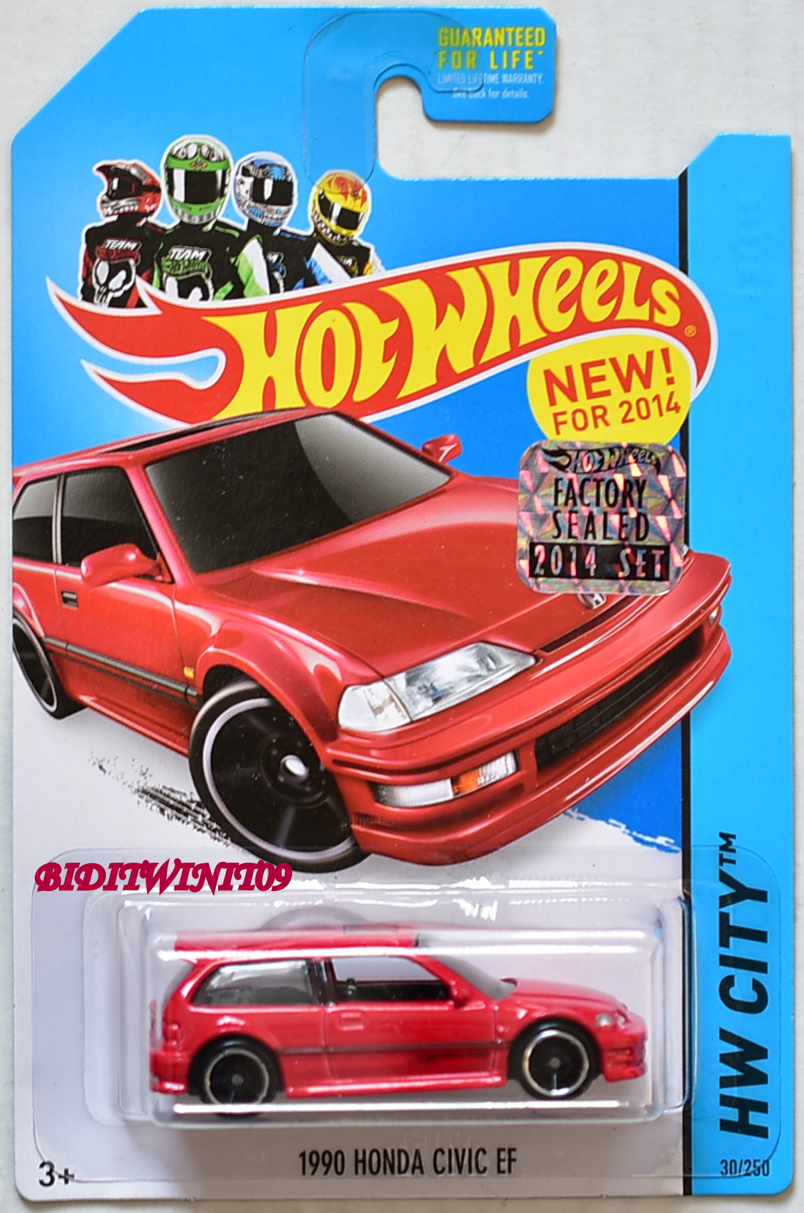 HOT WHEELS 2014 NIGHT BURNERZ 1990 HONDA CIVIC EF RED FACTORY SEALED