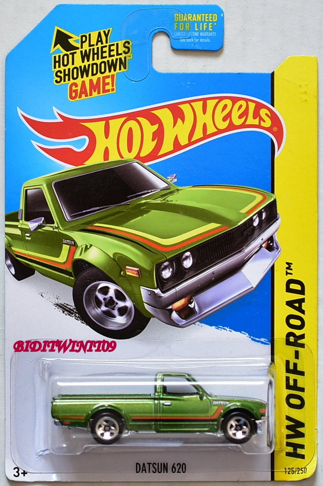 HOT WHEELS 2015 HW OFF-ROAD DATSUN 620 GREEN