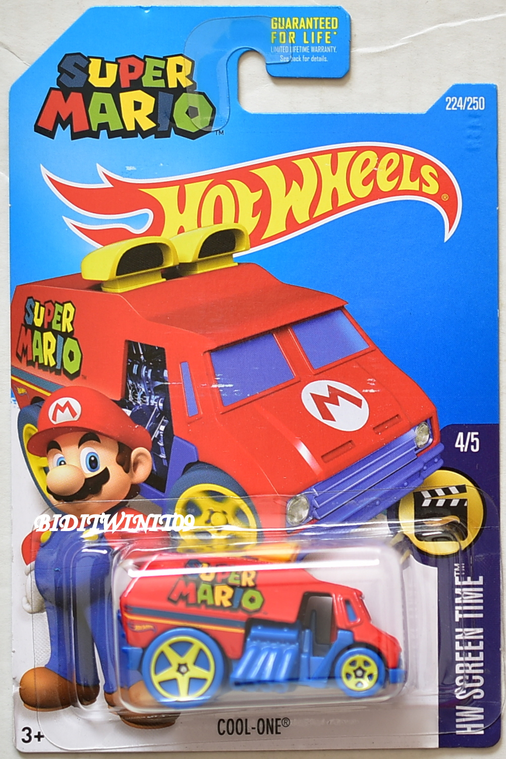 HOT WHEELS 2016 HW SCREEN TIME SUPER MARIO COOL-ONE #4/5