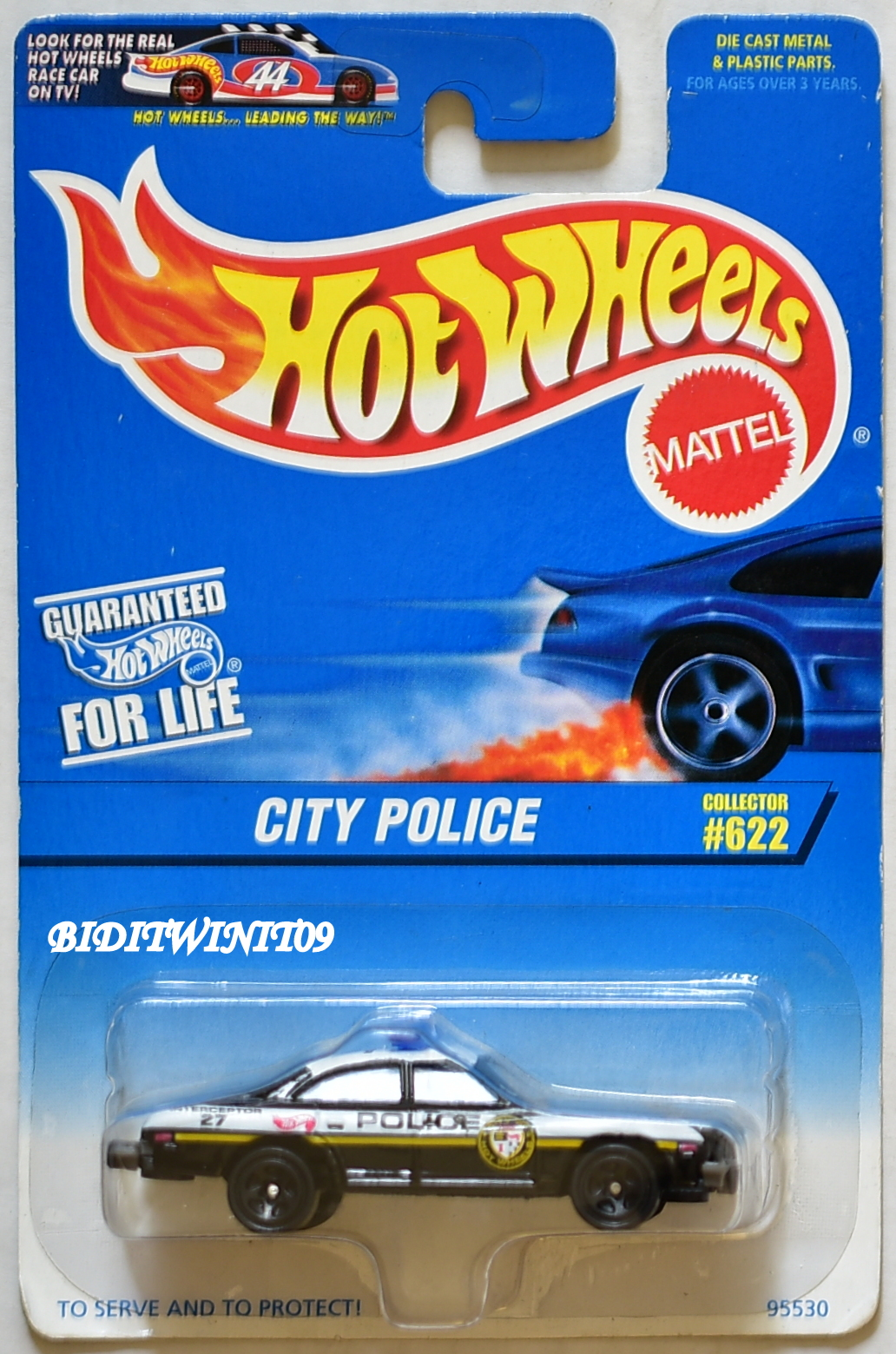 HOT WHEELS 1996 CITY POLICE #622 BLACK